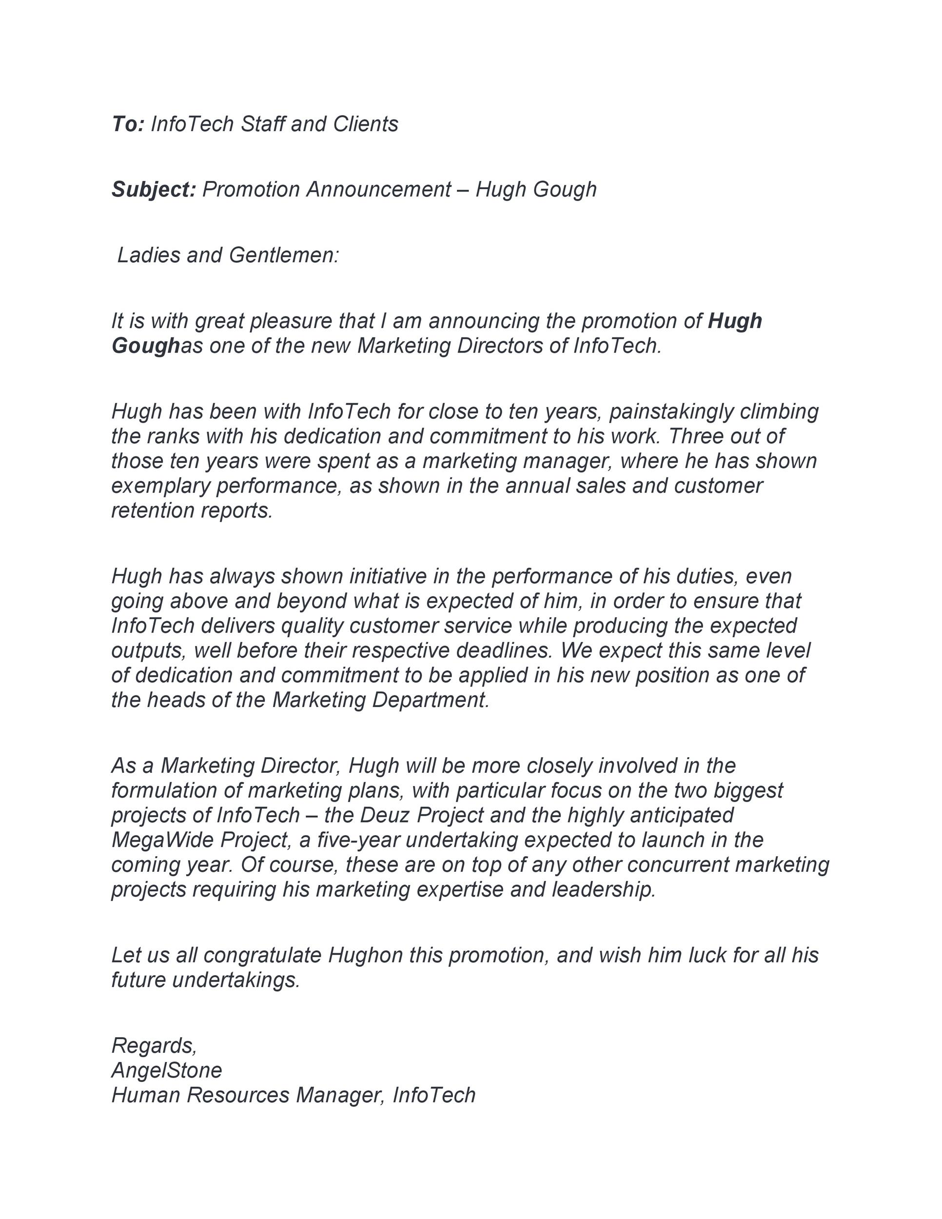 Free promotion letter 47