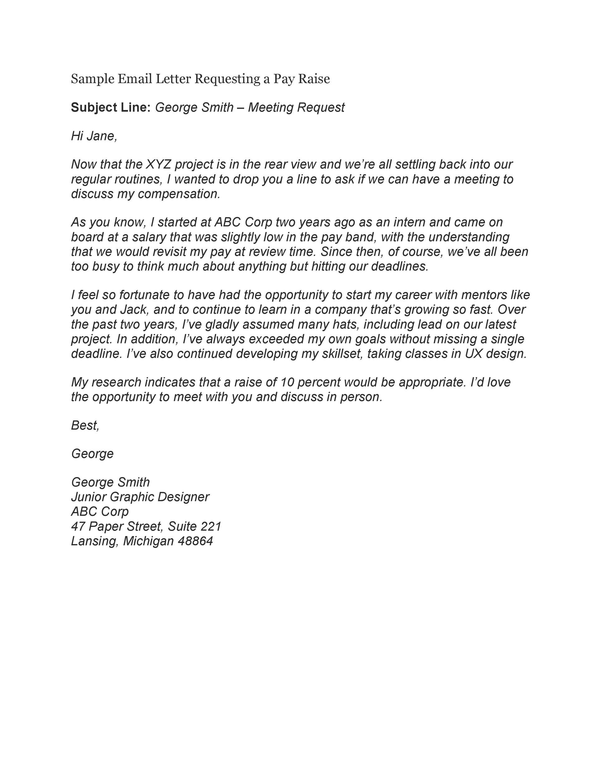 Free salary increase letter 14