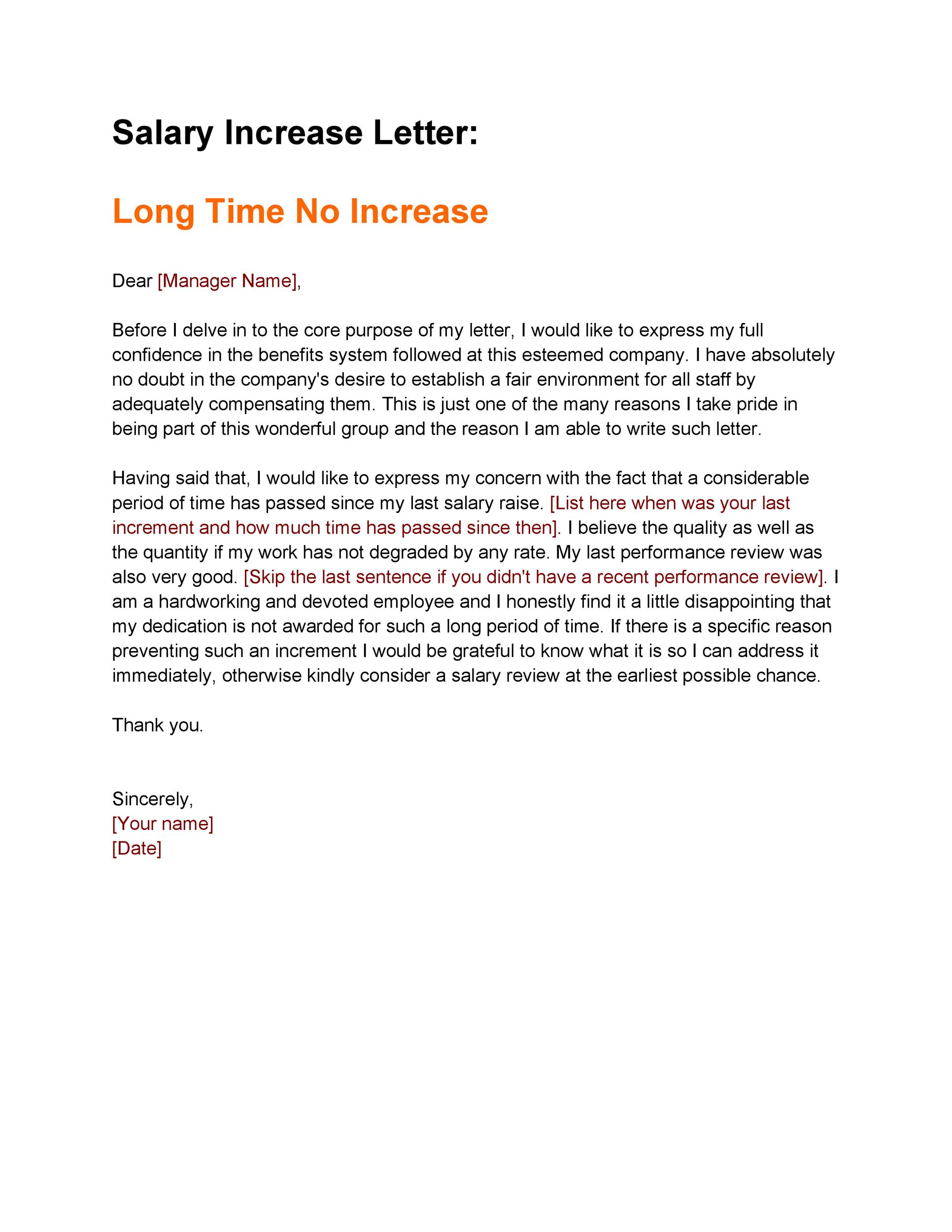 Sample Pay Raise Letter from templatelab.com