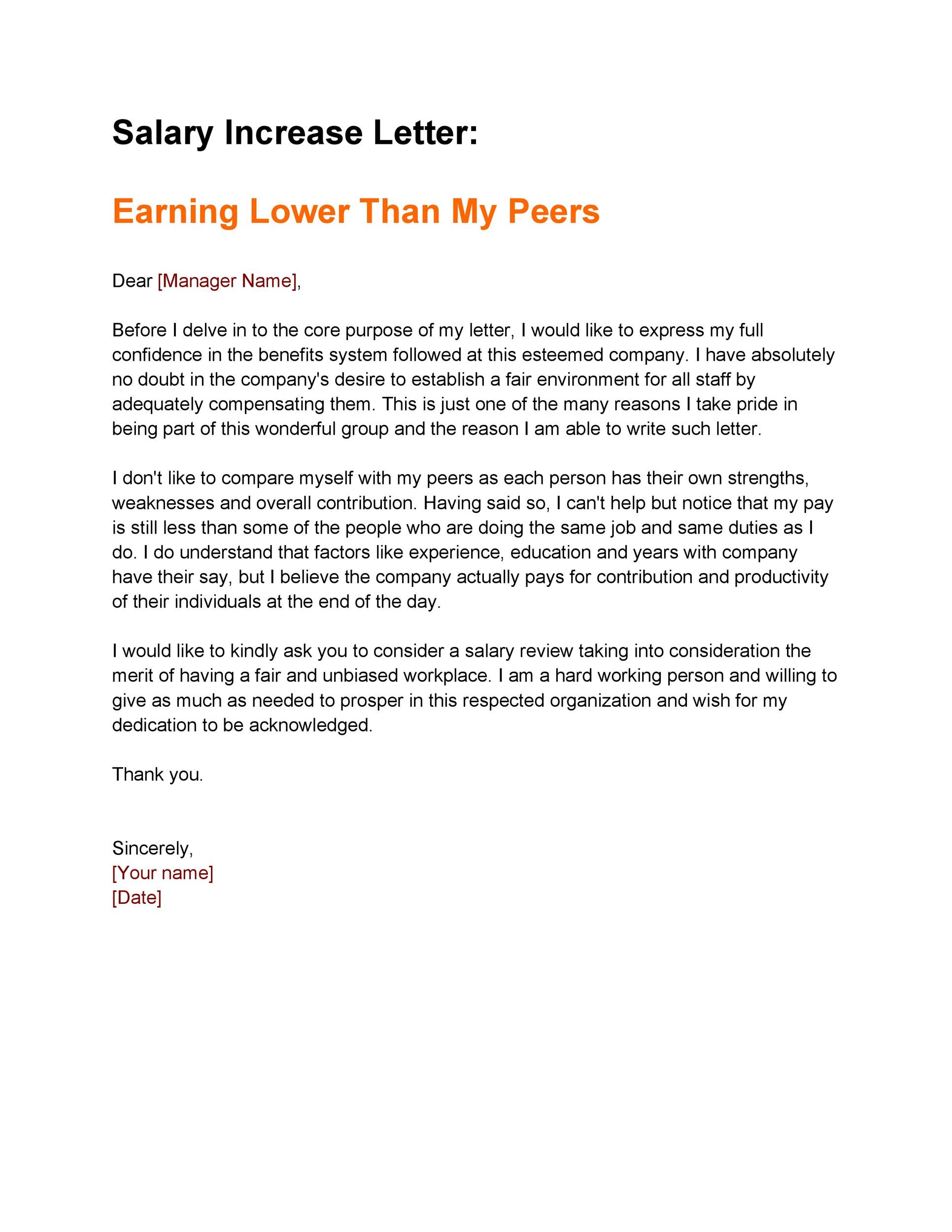 Free salary increase letter 23