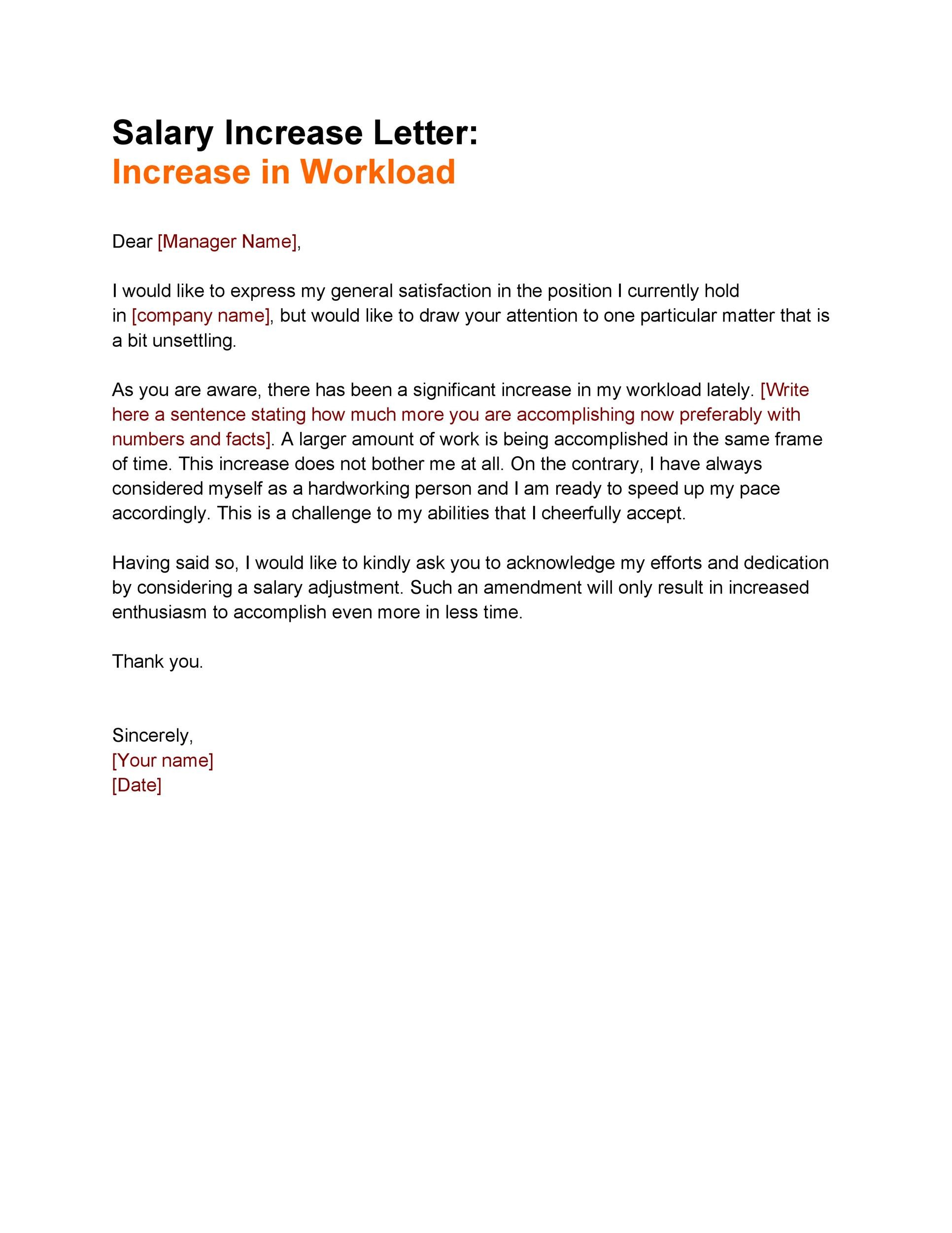 Free salary increase letter 28