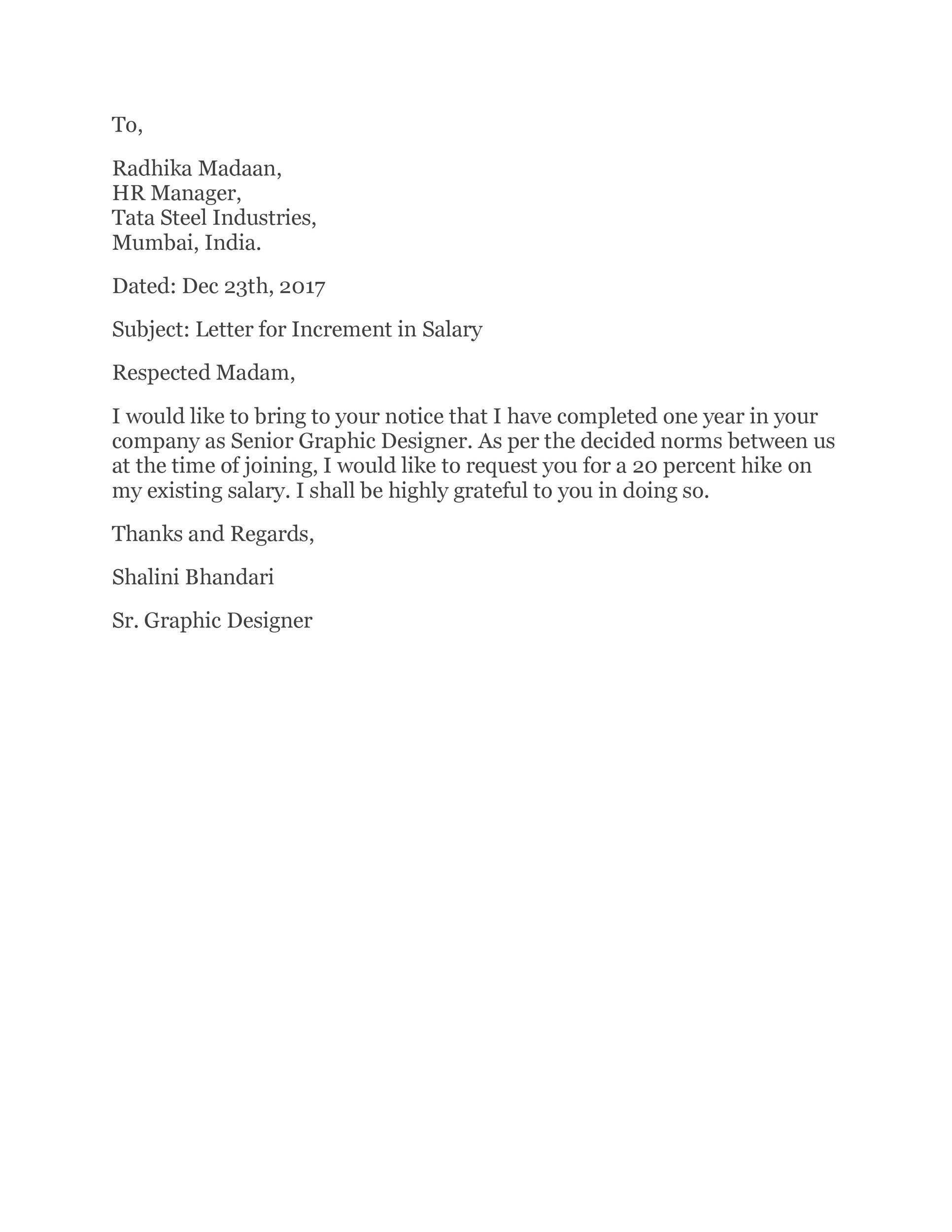 Free salary increase letter 47