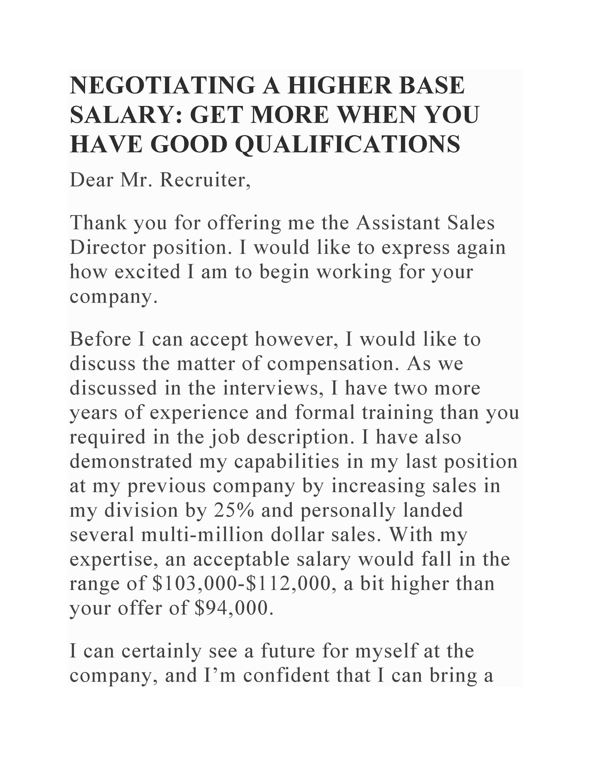 Free salary negotiation letter 11