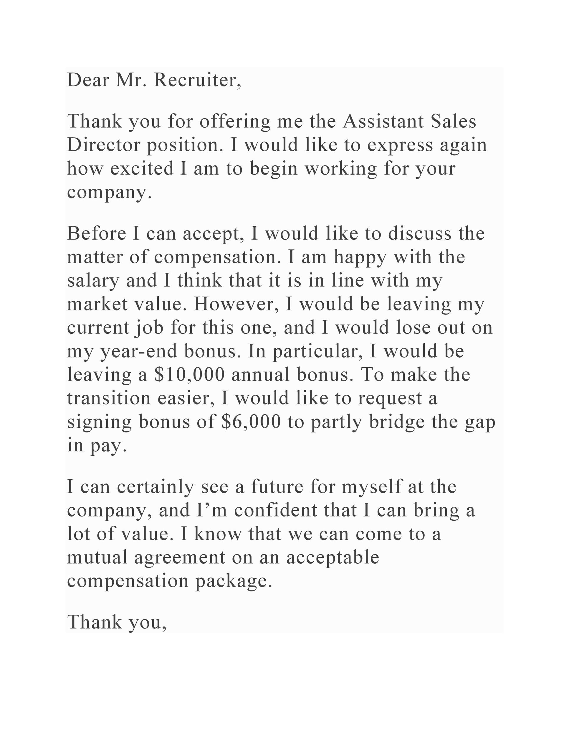 Free salary negotiation letter 13