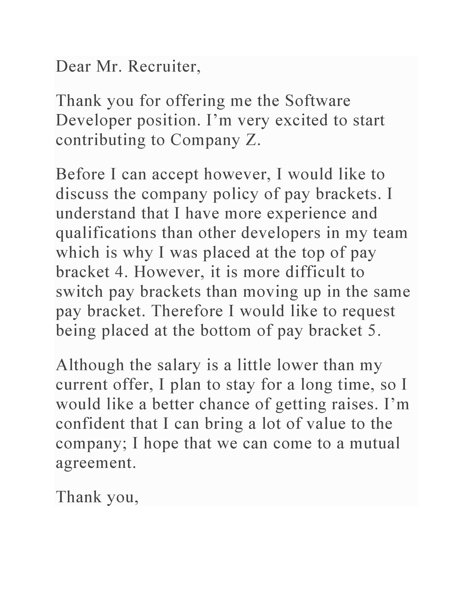 Free salary negotiation letter 16