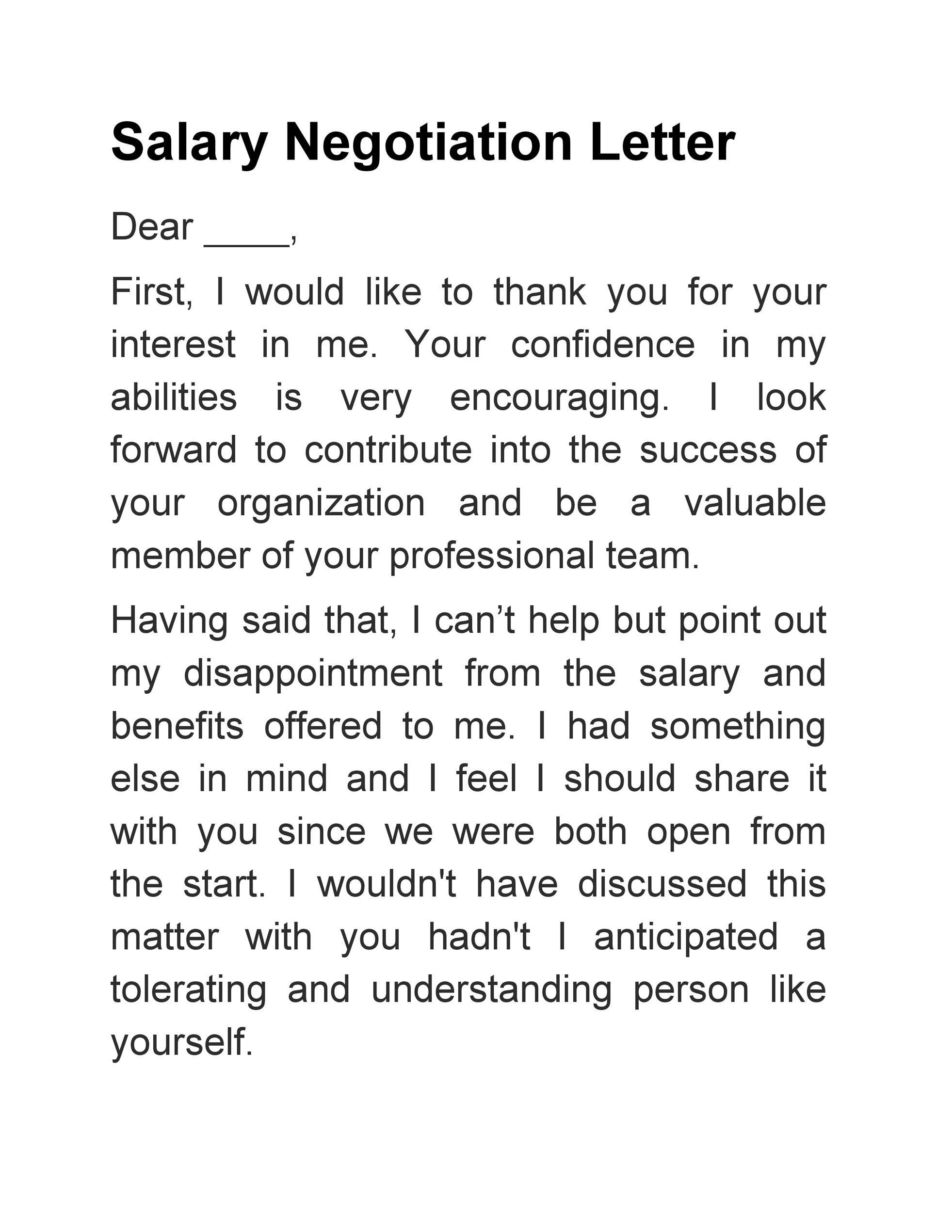 Lettre gratuite pour les négociations salariales 19