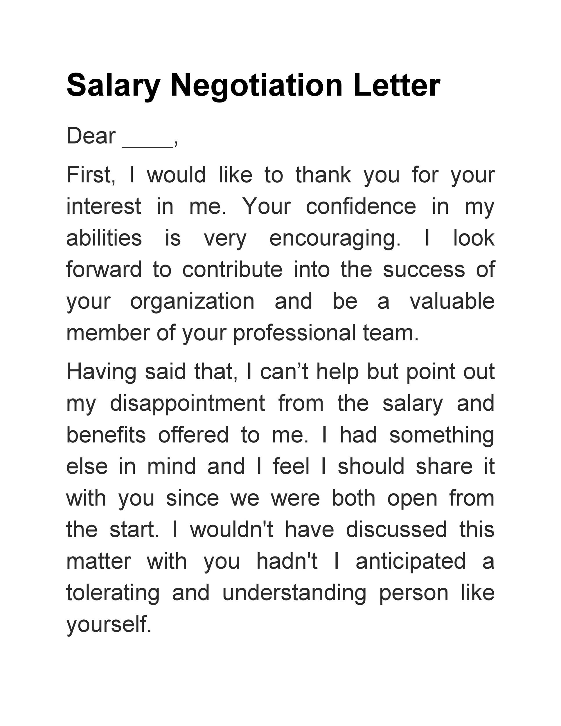 Free salary negotiation letter 19