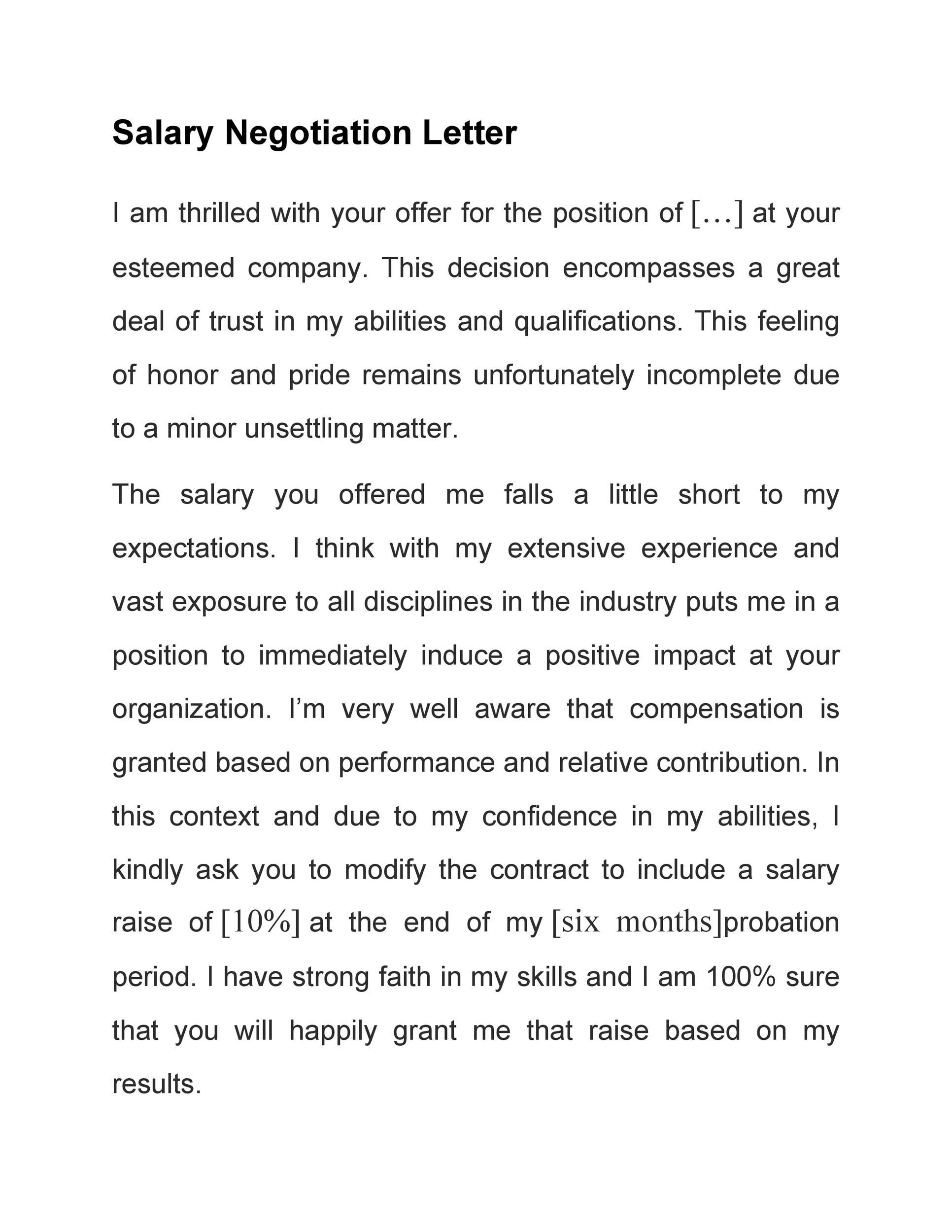 Free salary negotiation letter 25