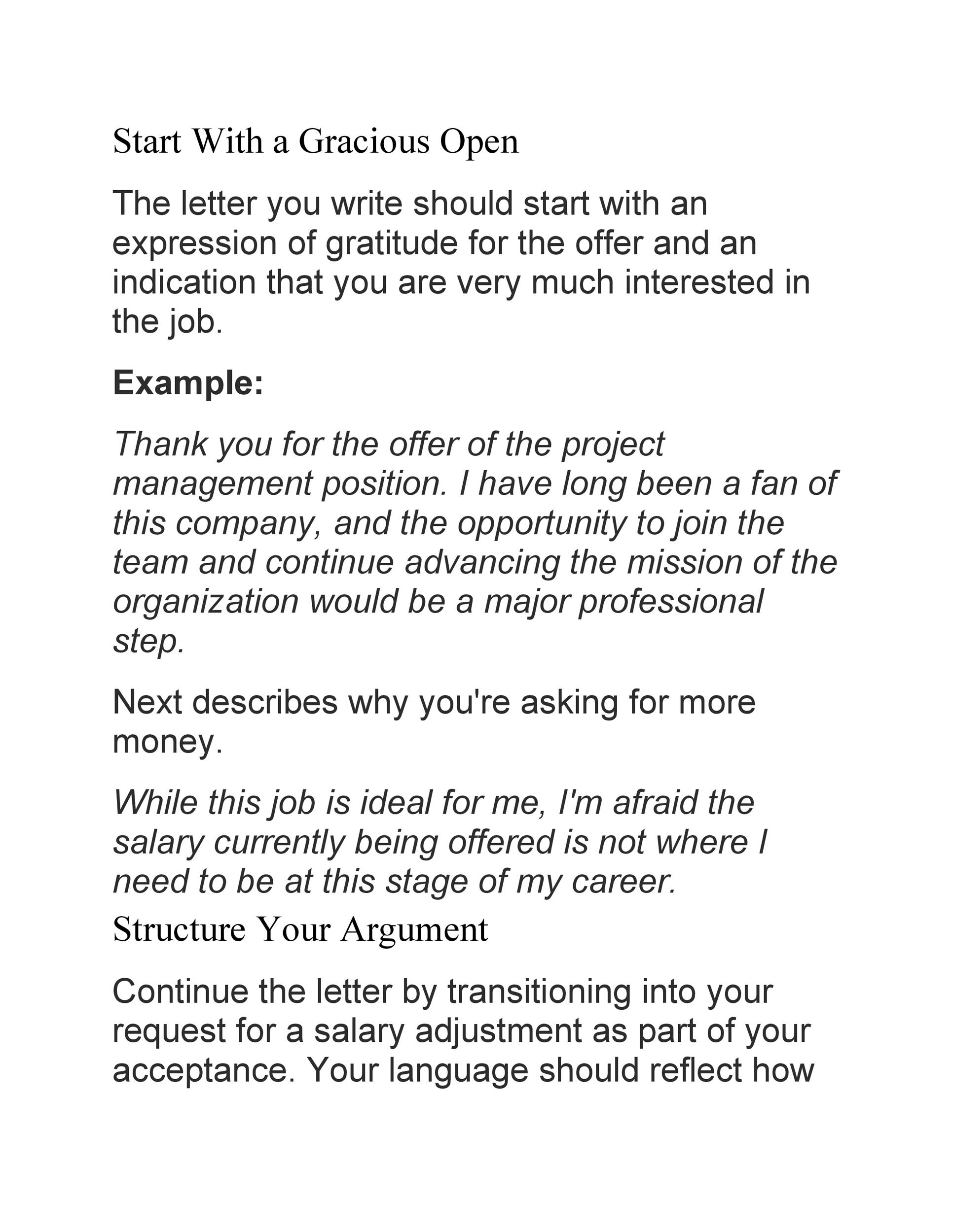 Free salary negotiation letter 26