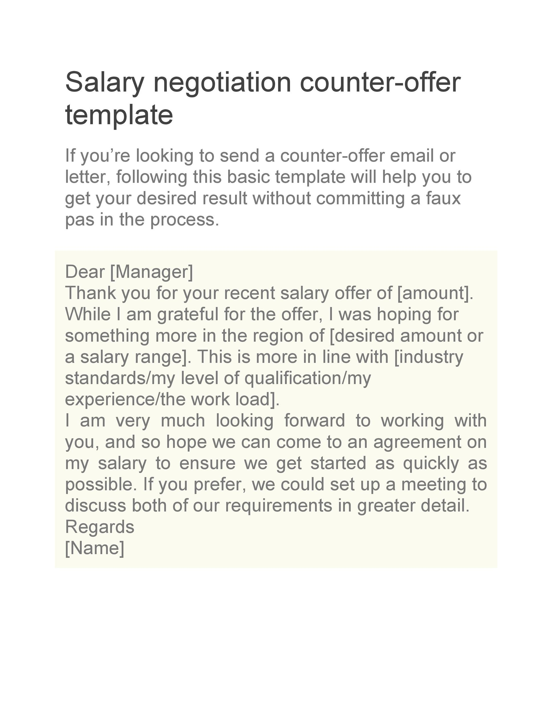 Negotiating Start Date Sample Letter from templatelab.com
