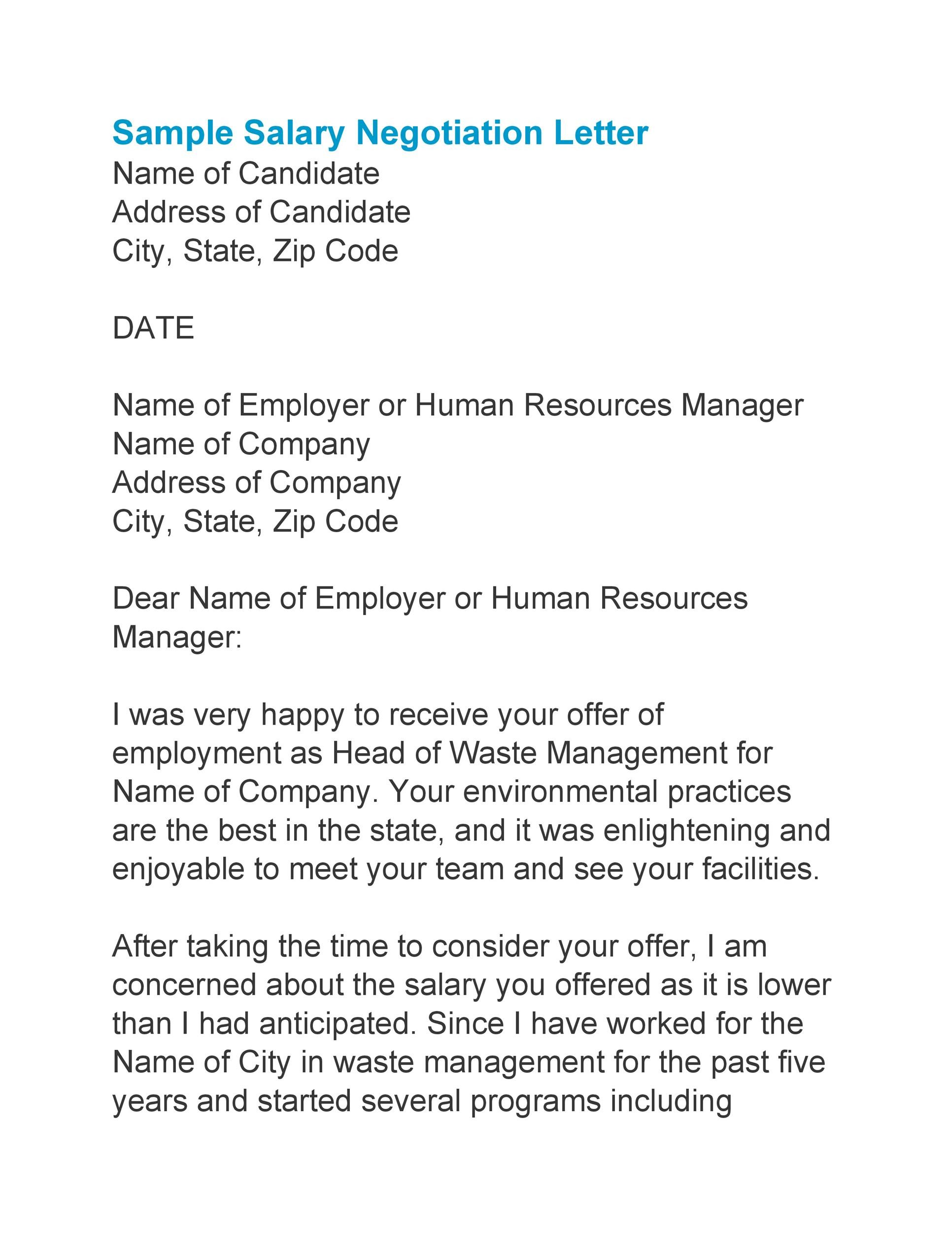 Free salary negotiation letter 32