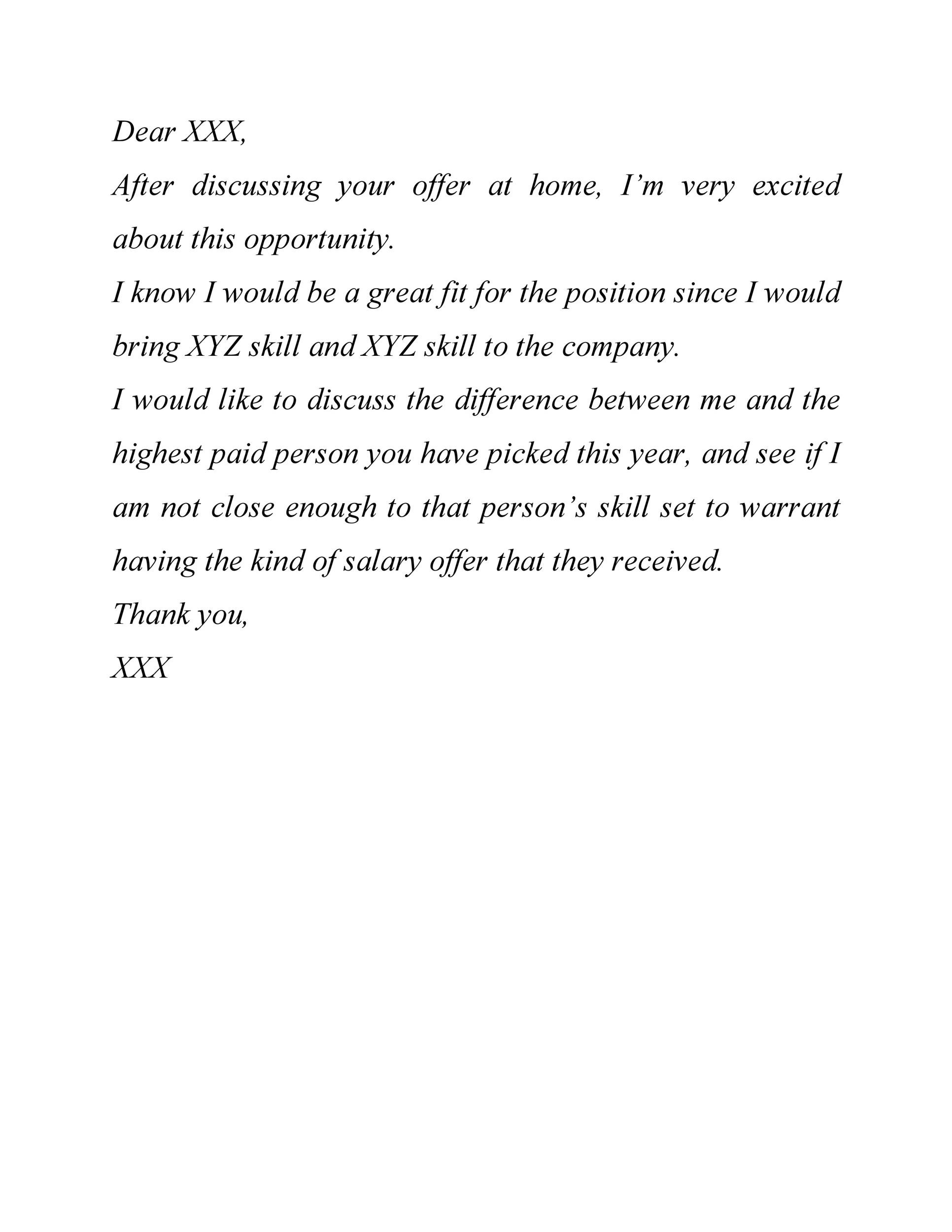 Free salary negotiation letter 35