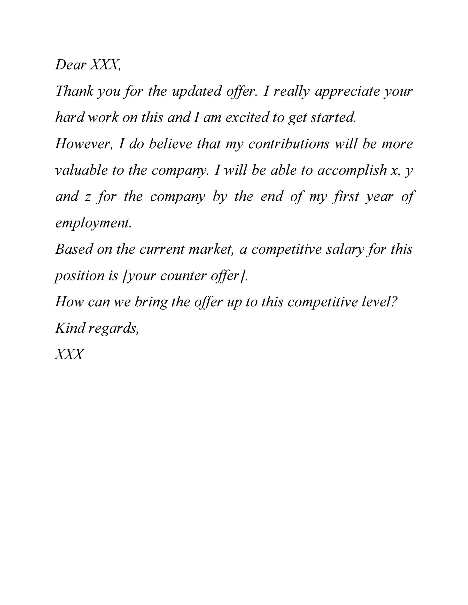 Free salary negotiation letter 36