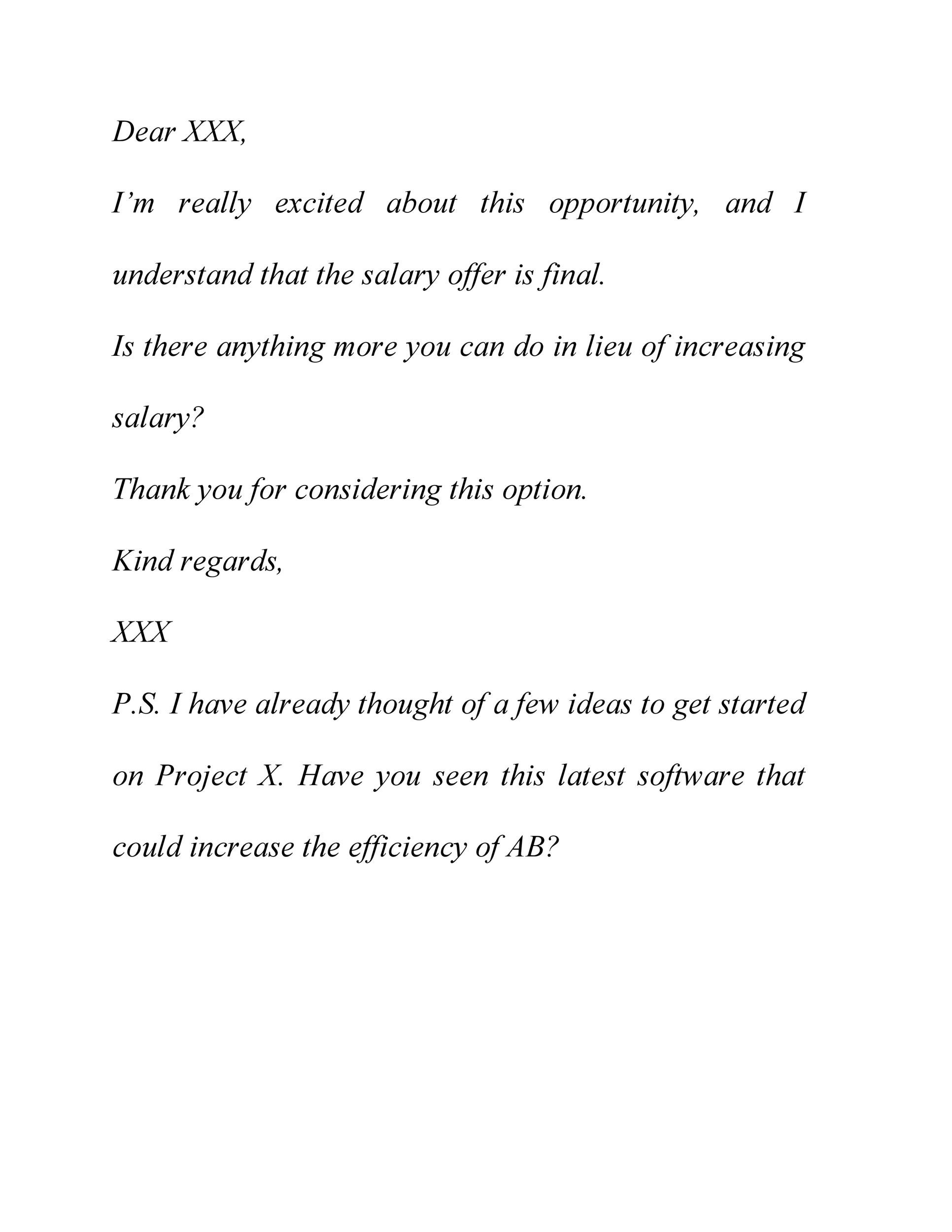 Free salary negotiation letter 37