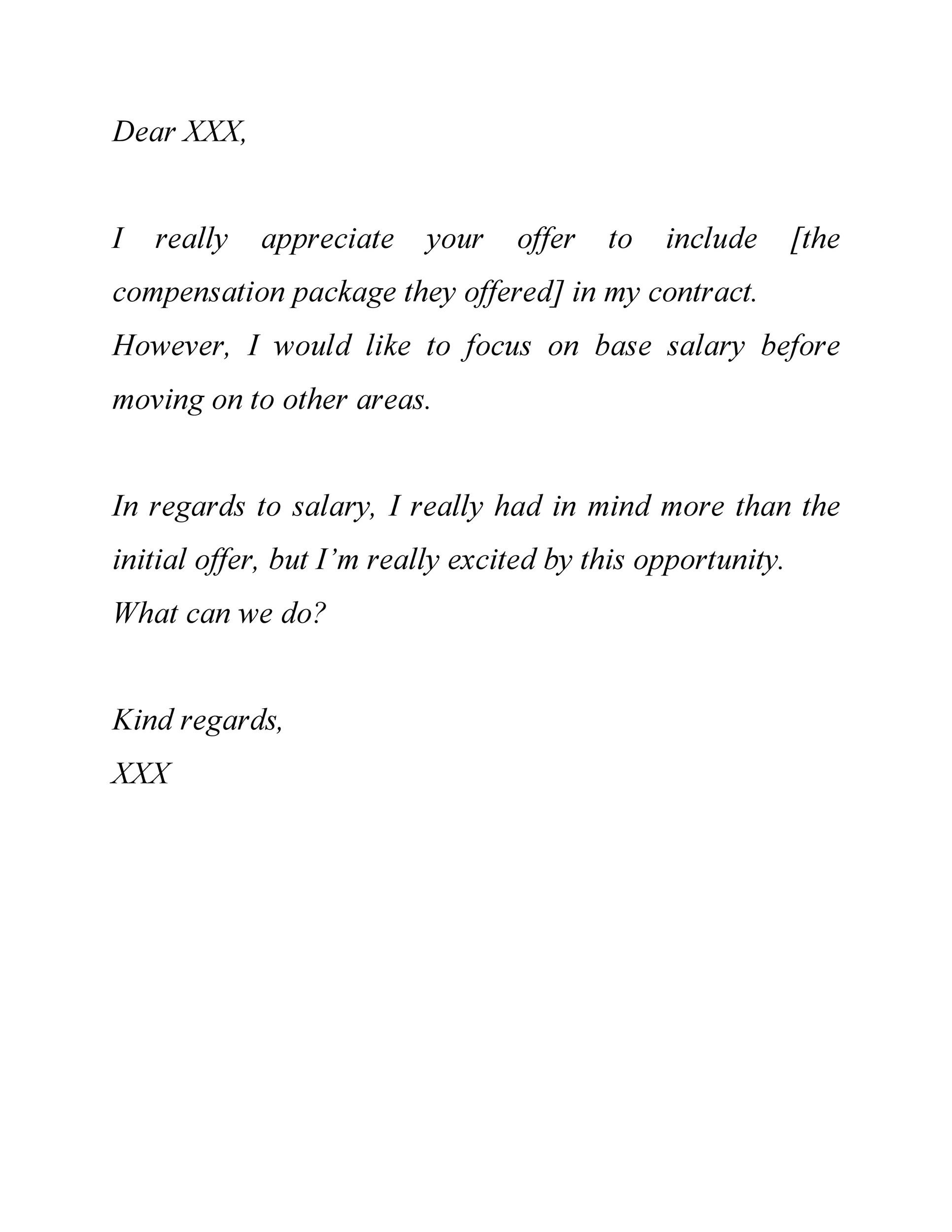 Free salary negotiation letter 38