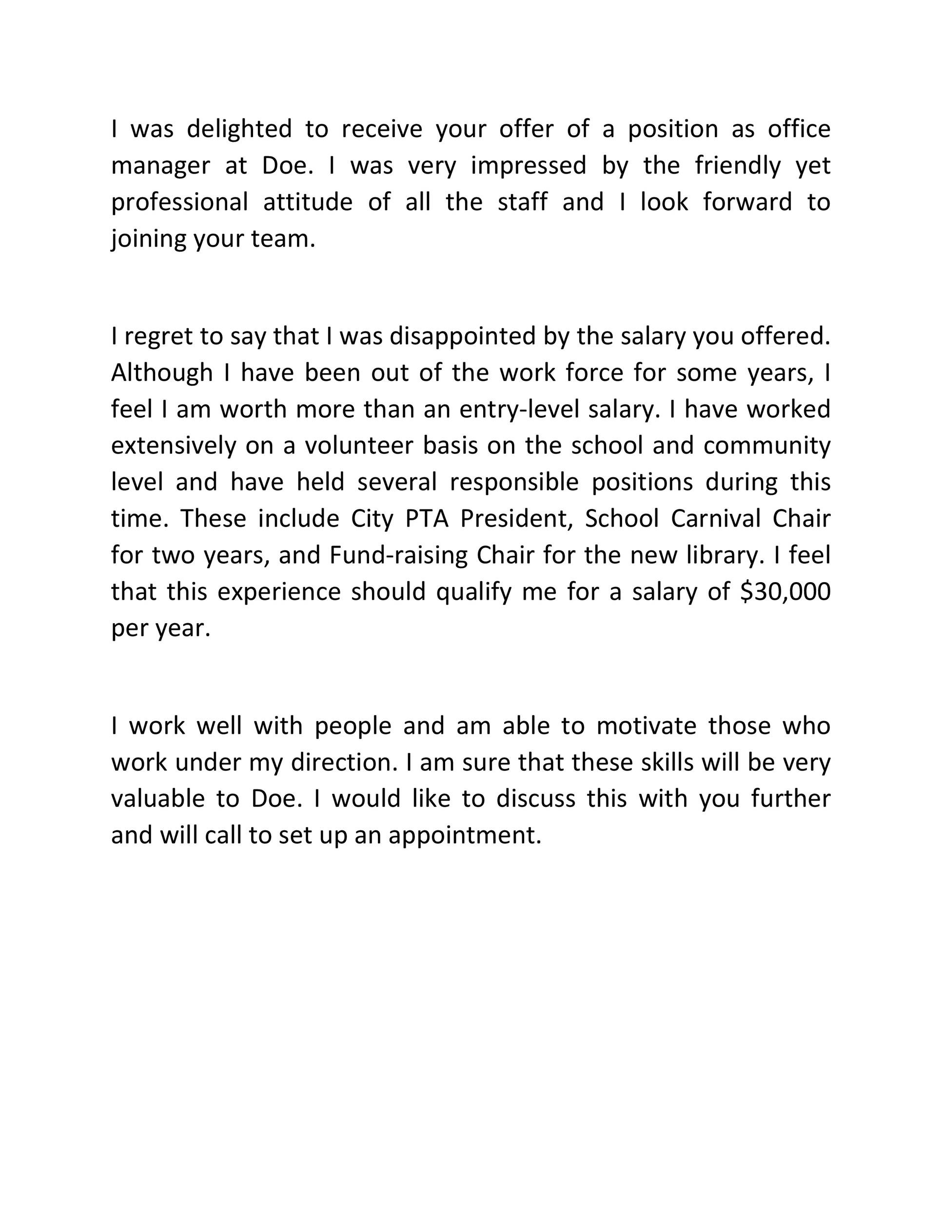 Free salary negotiation letter 41