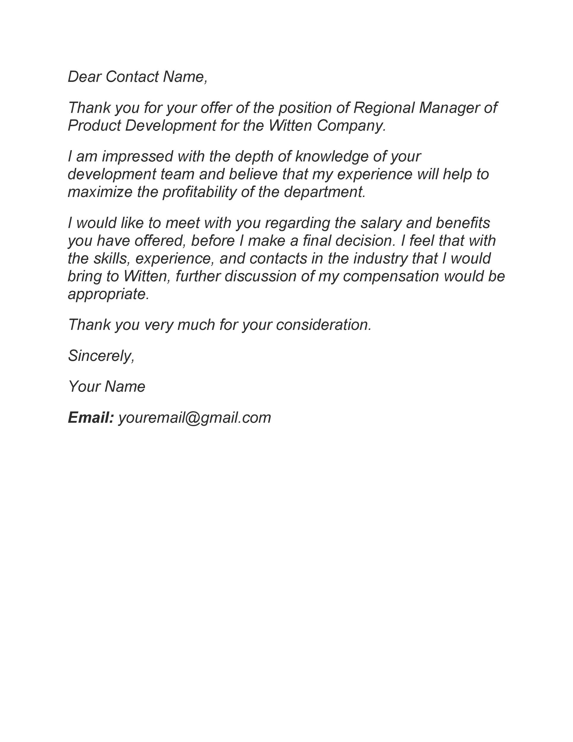 Free salary negotiation letter 45