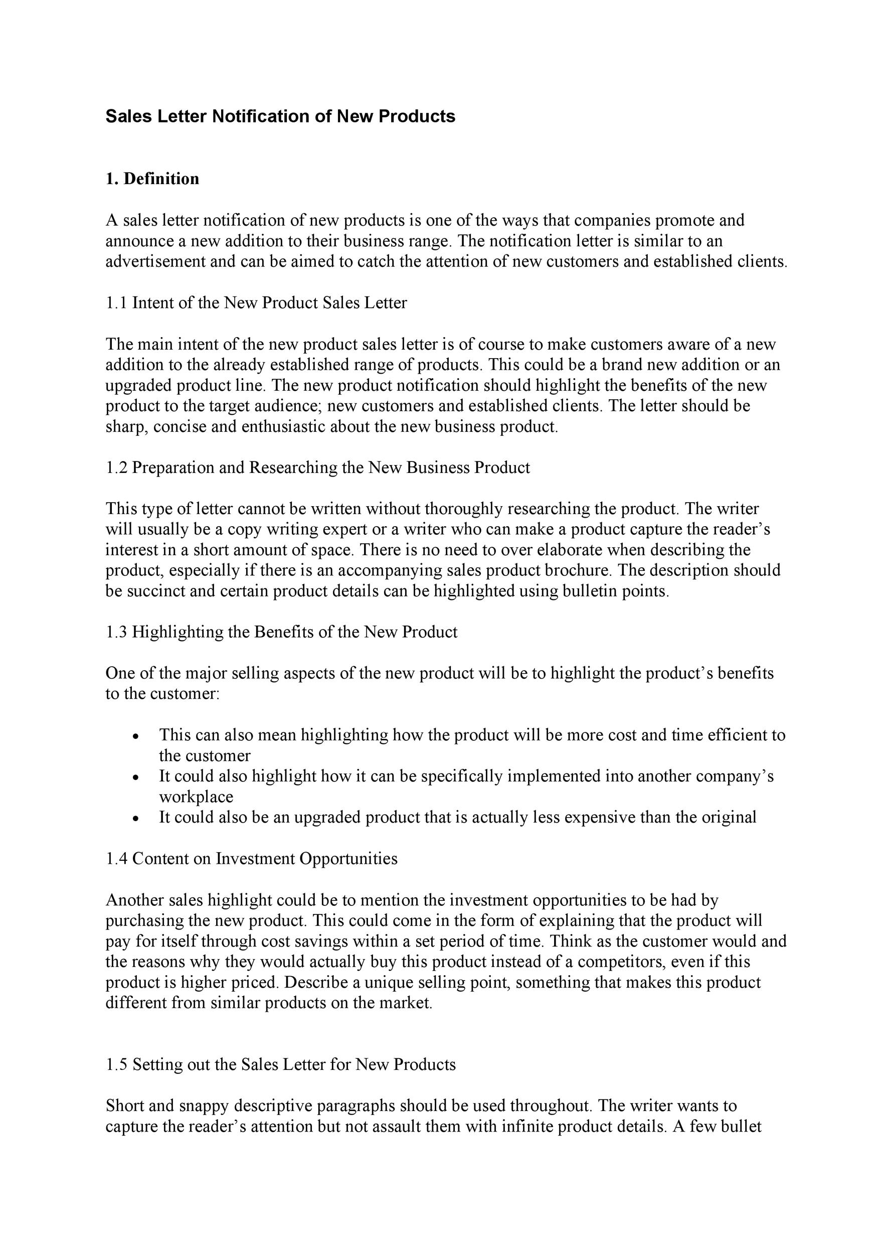 Free sales letter template 07