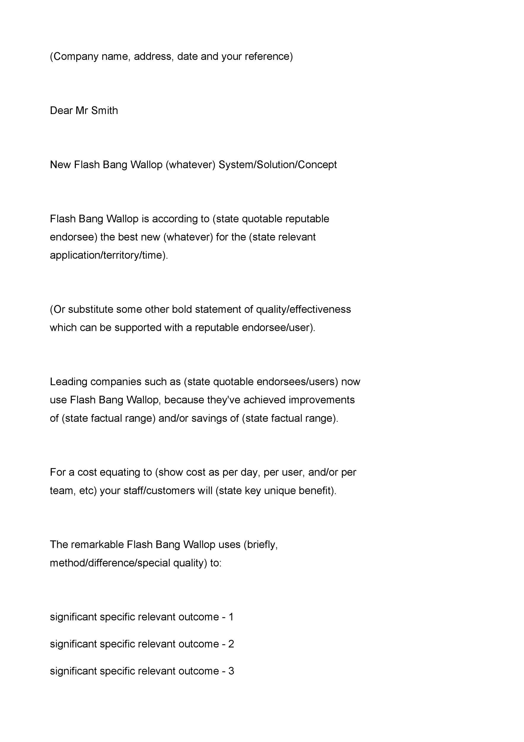 Free sales letter template 09