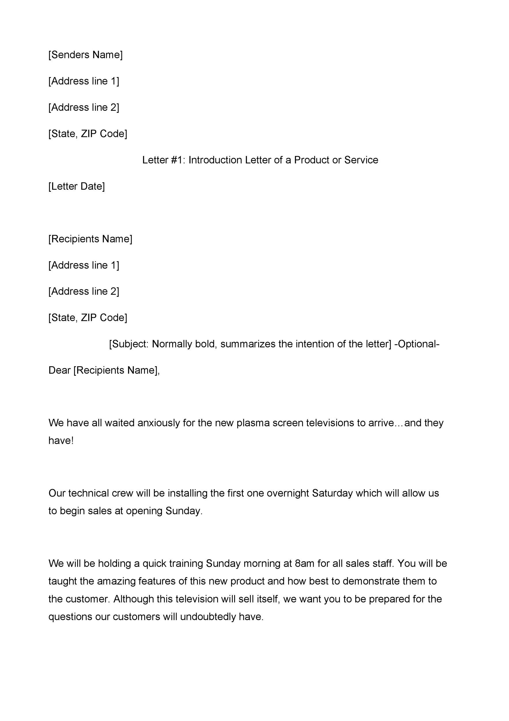 Free sales letter template 13