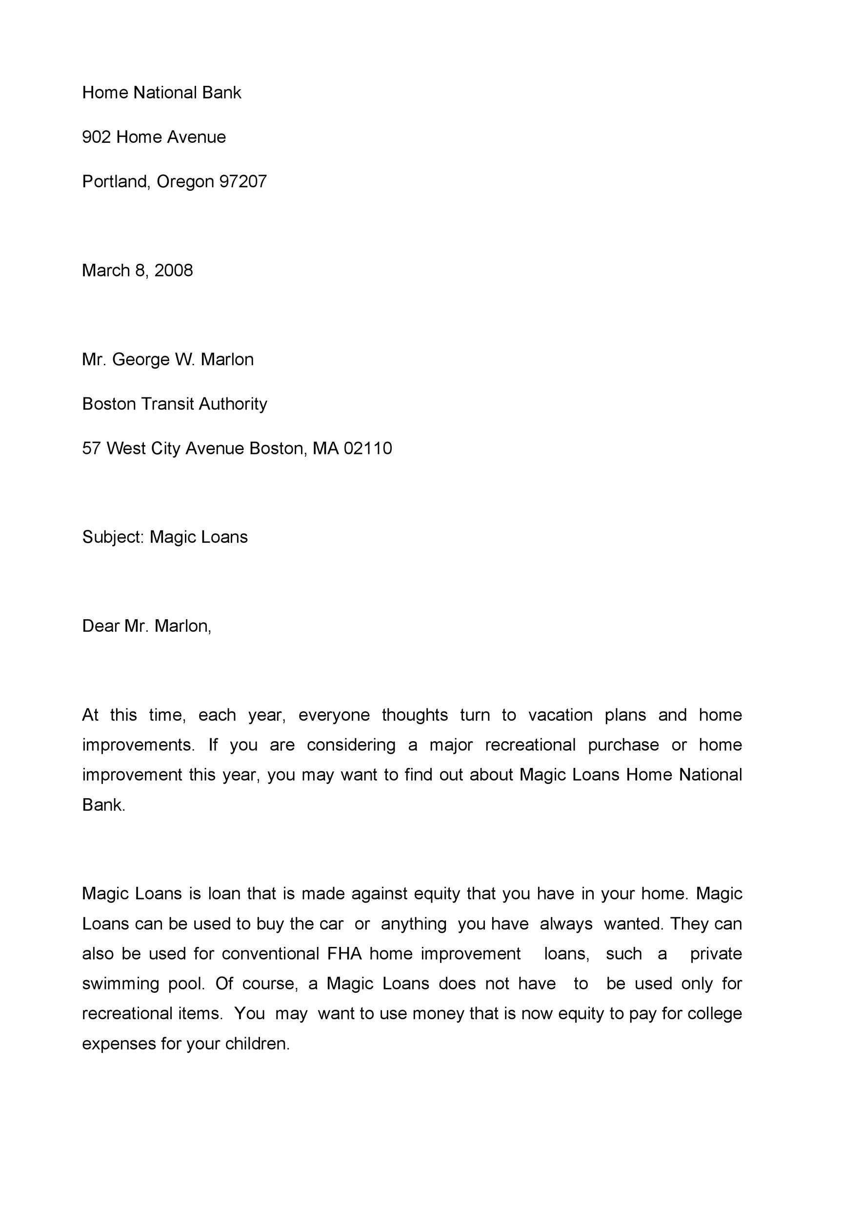 Free sales letter template 15