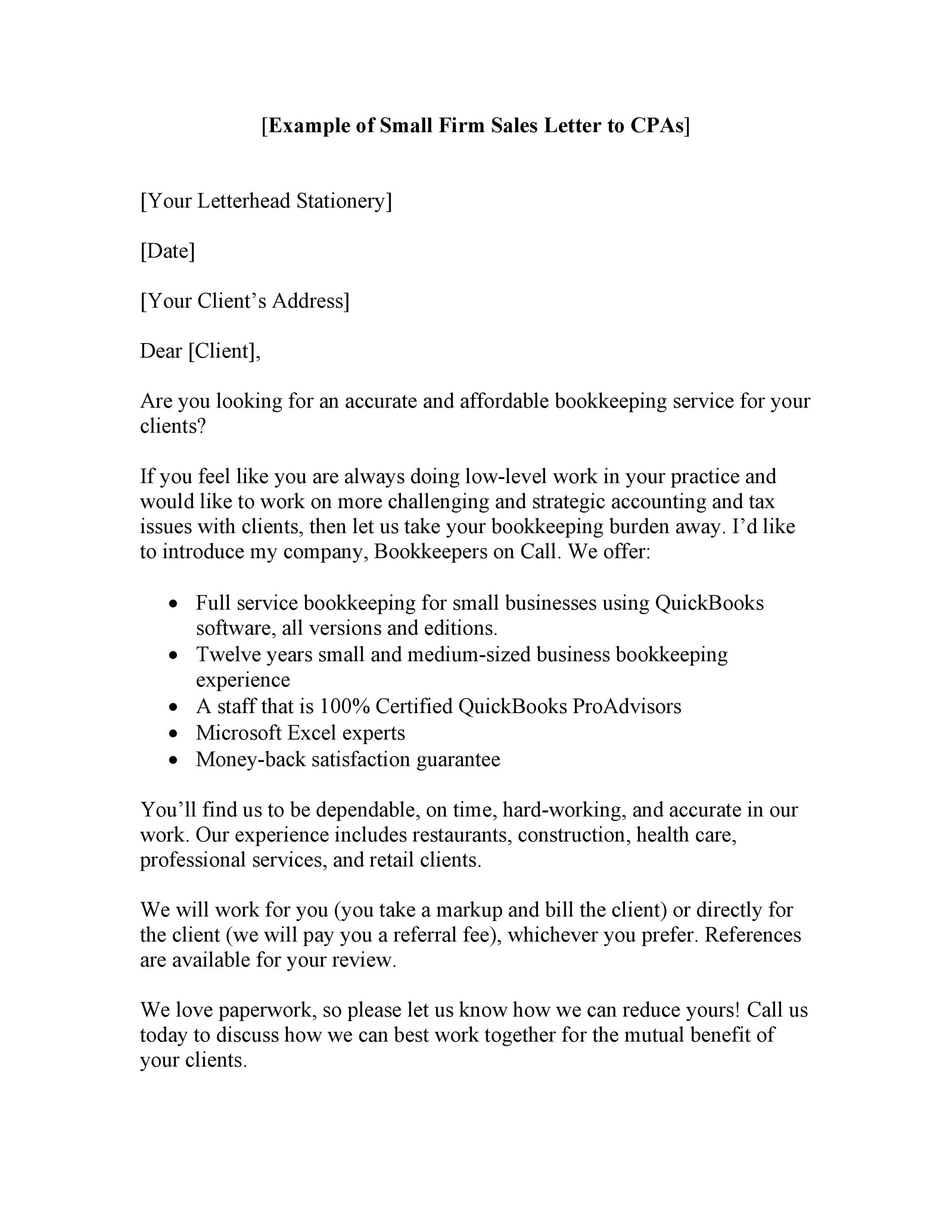Free sales letter template 17