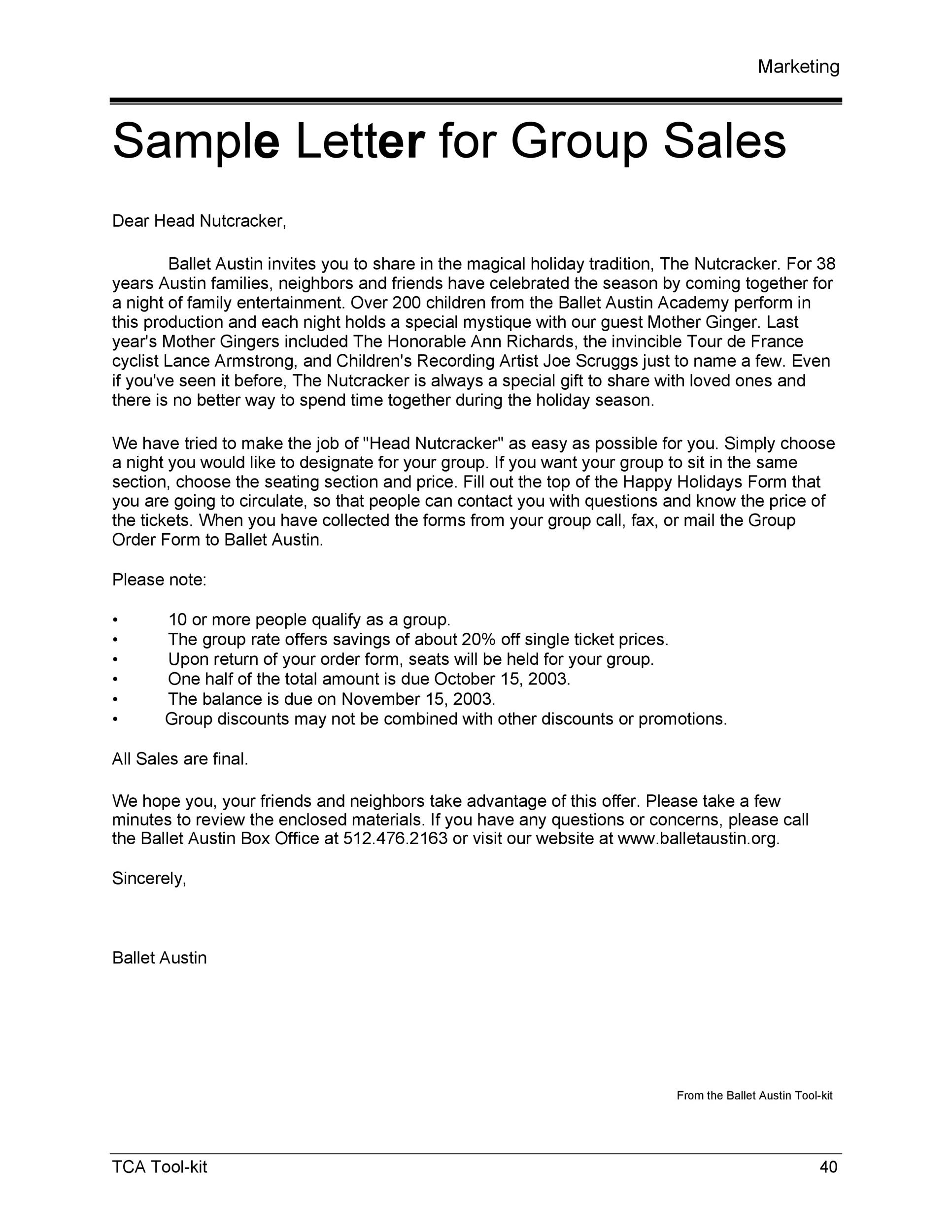 Free sales letter template 20