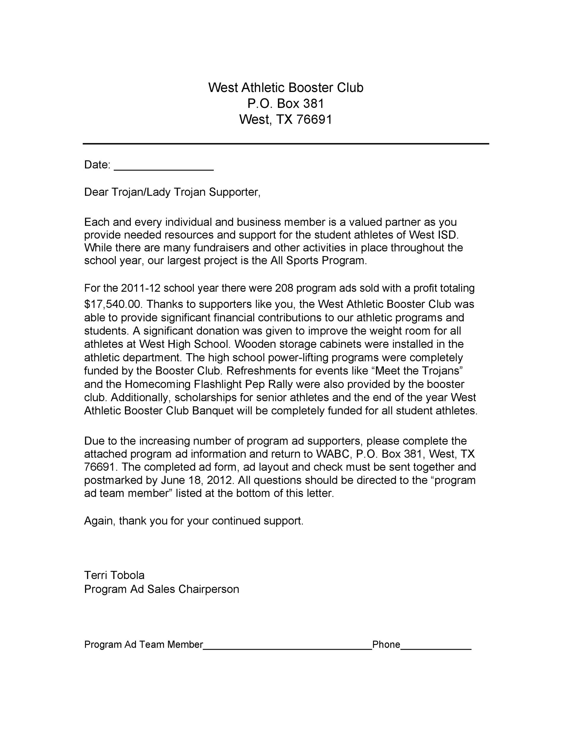 Free sales letter template 31