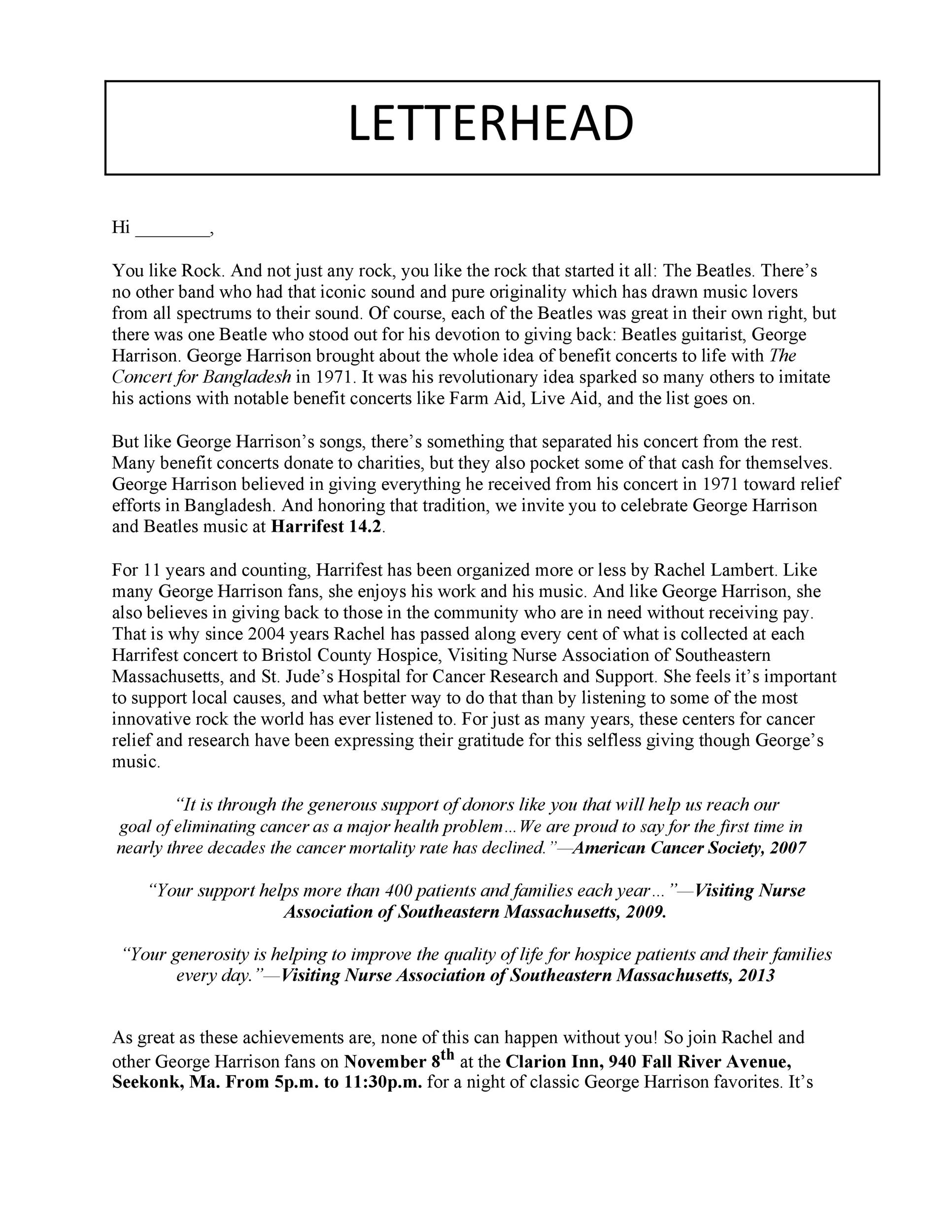 Free sales letter template 32