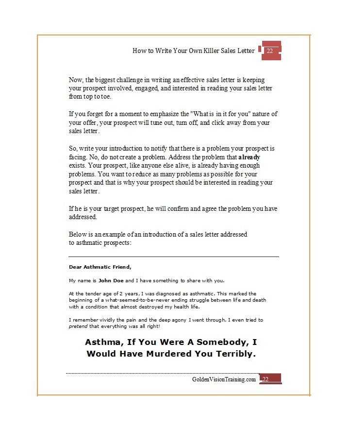 Free sales letter template 33