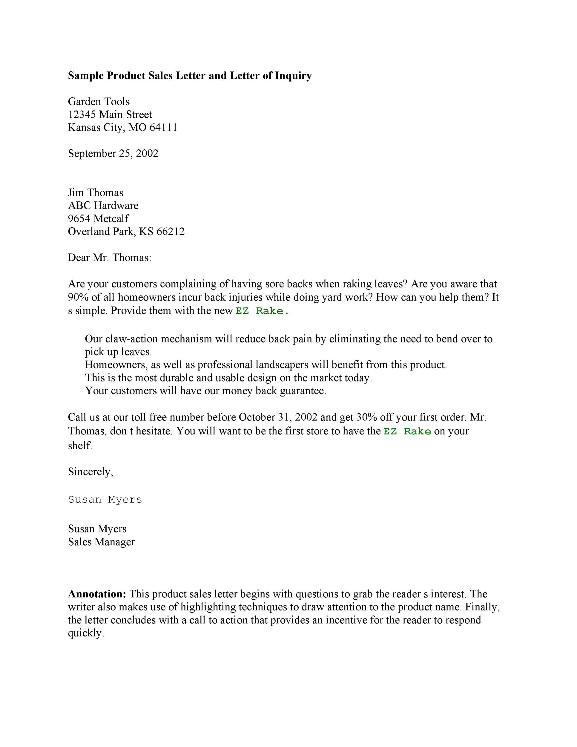 Free sales letter template 35