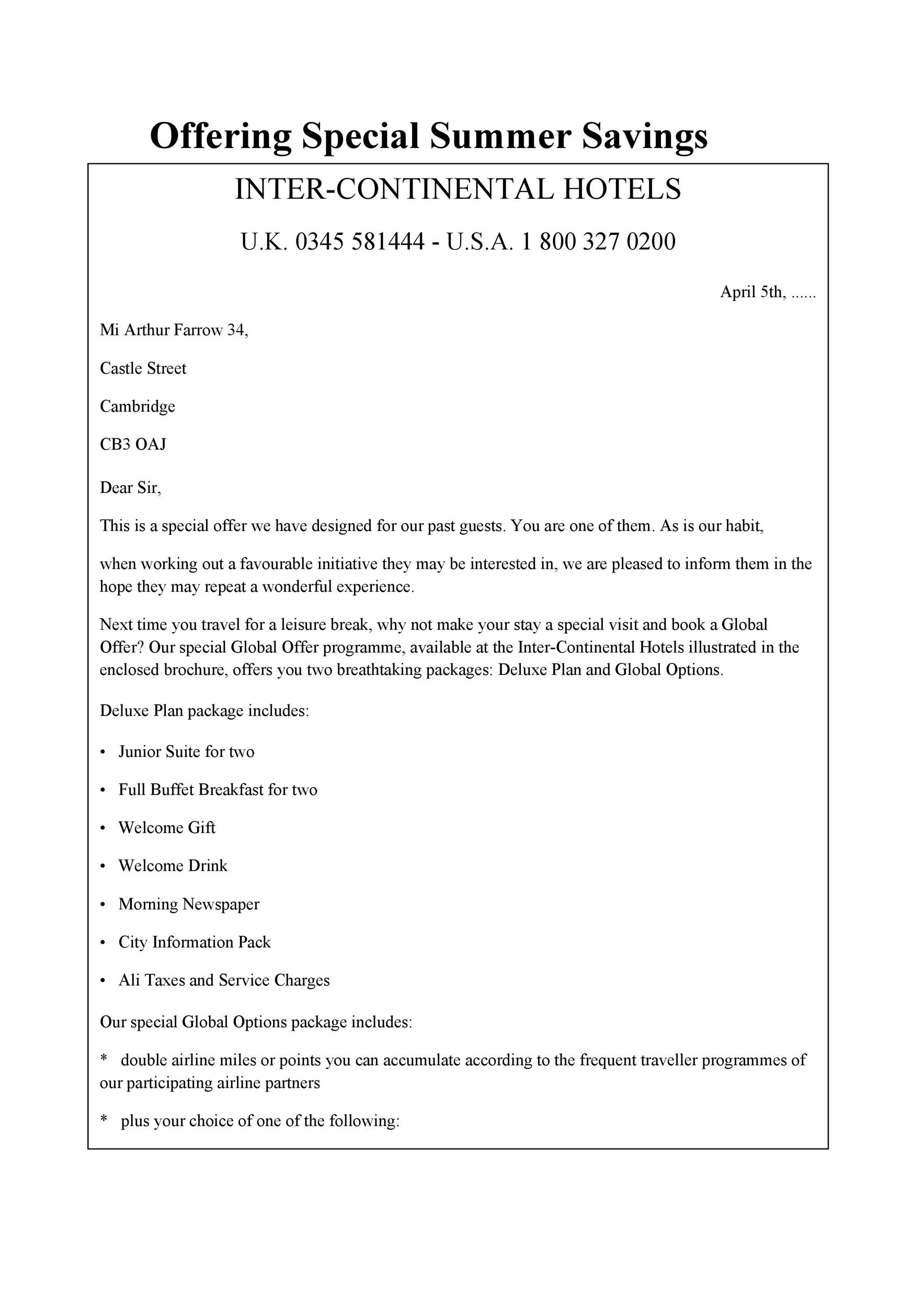 Free sales letter template 44