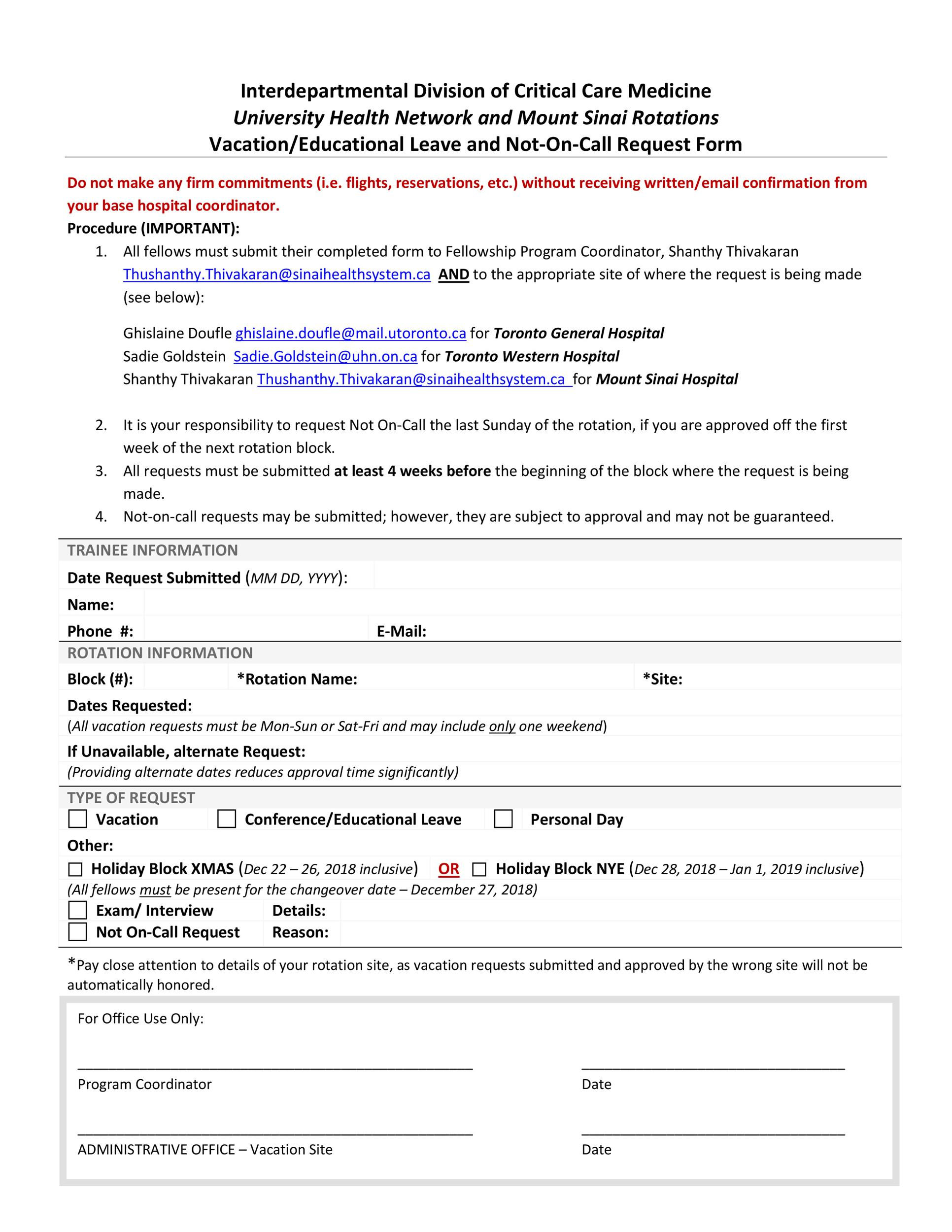 Free vacation request form 02