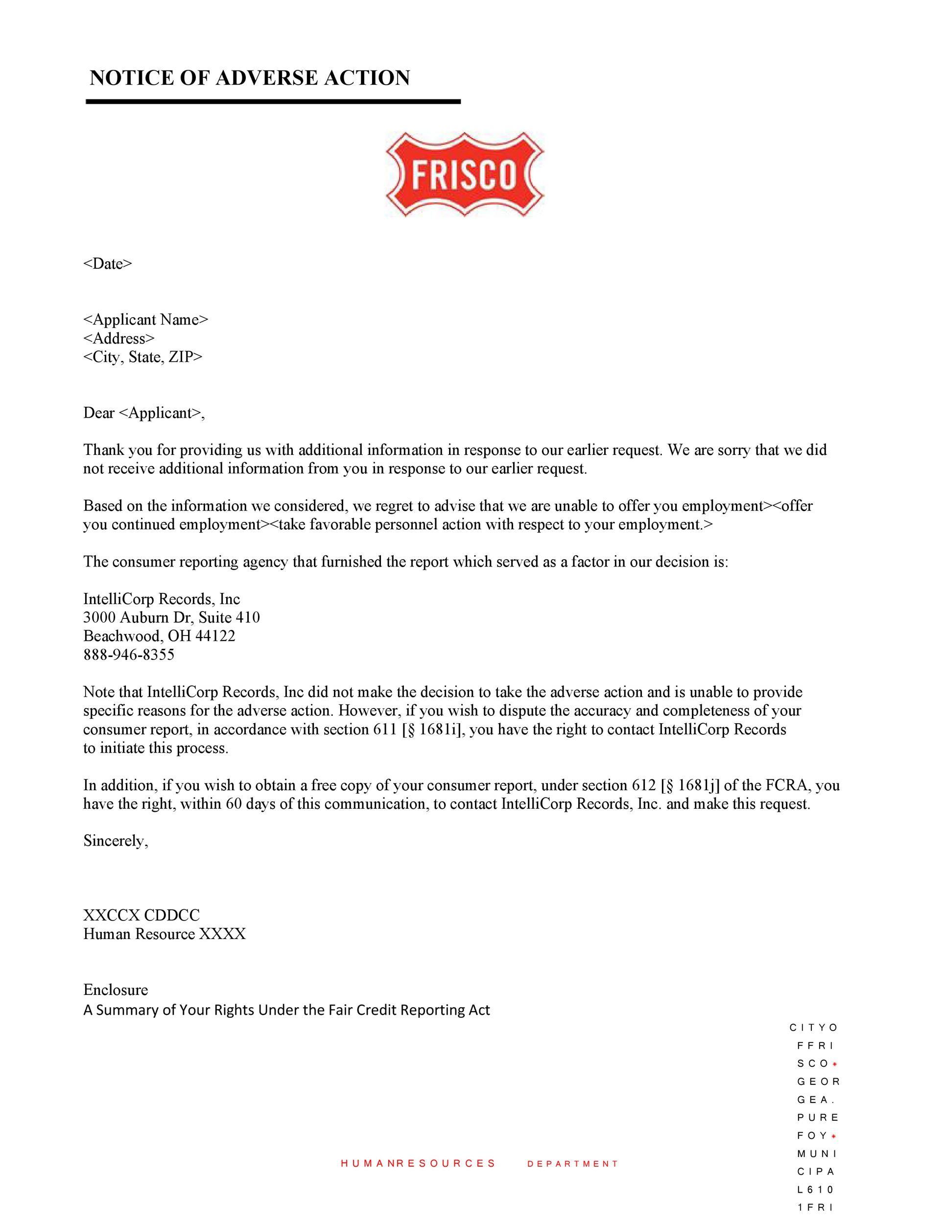 Free adverse action notice 11