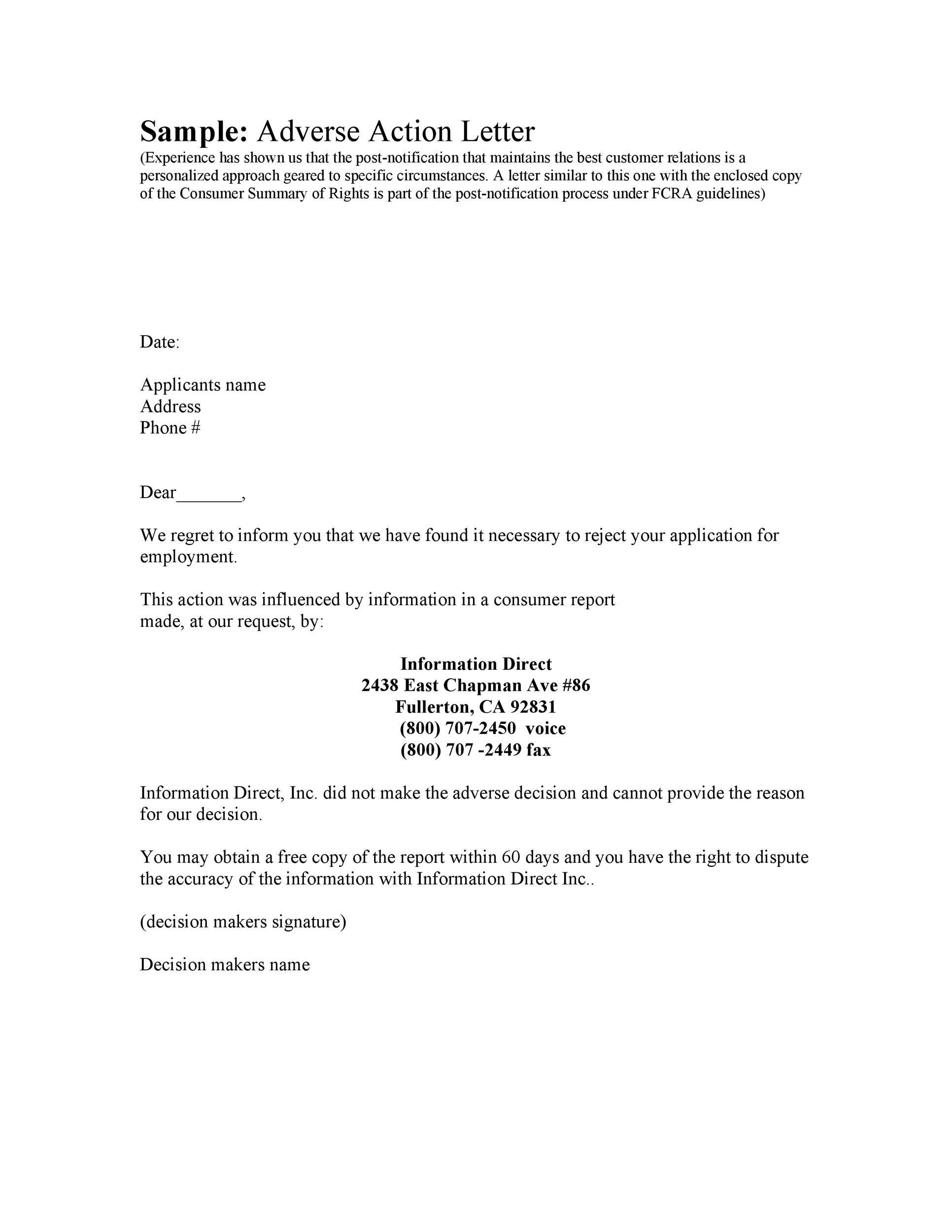 Free adverse action notice 15