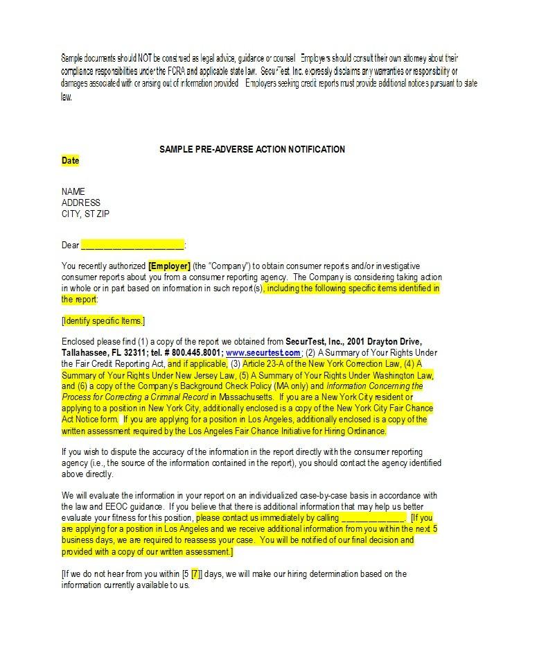 Free adverse action notice 24