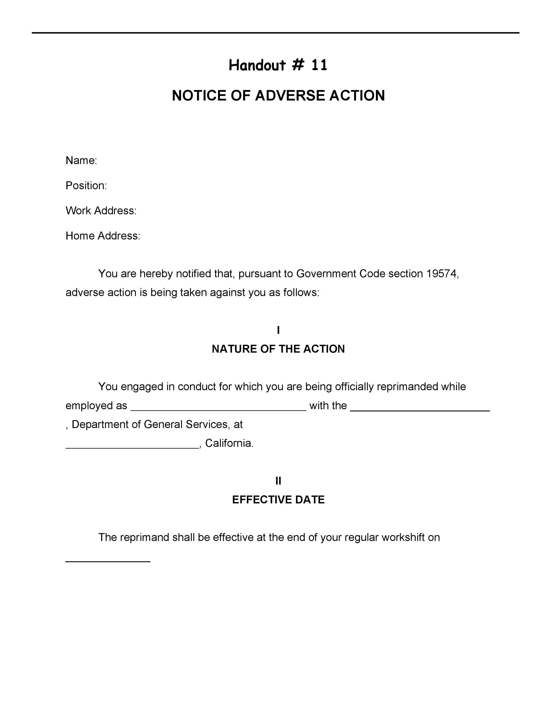 Free adverse action notice 28