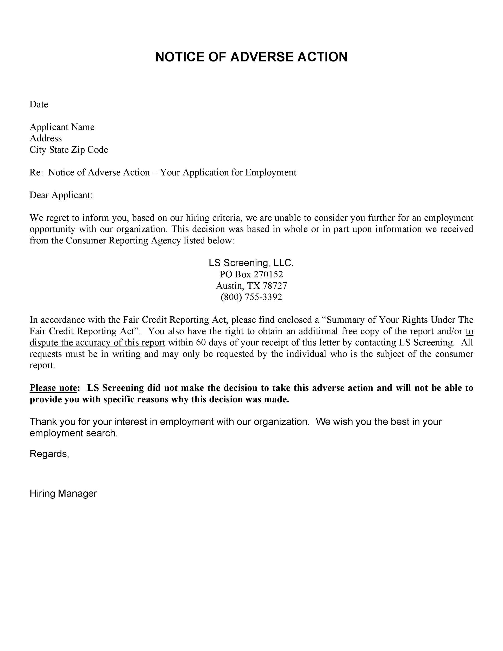 Free adverse action notice 34
