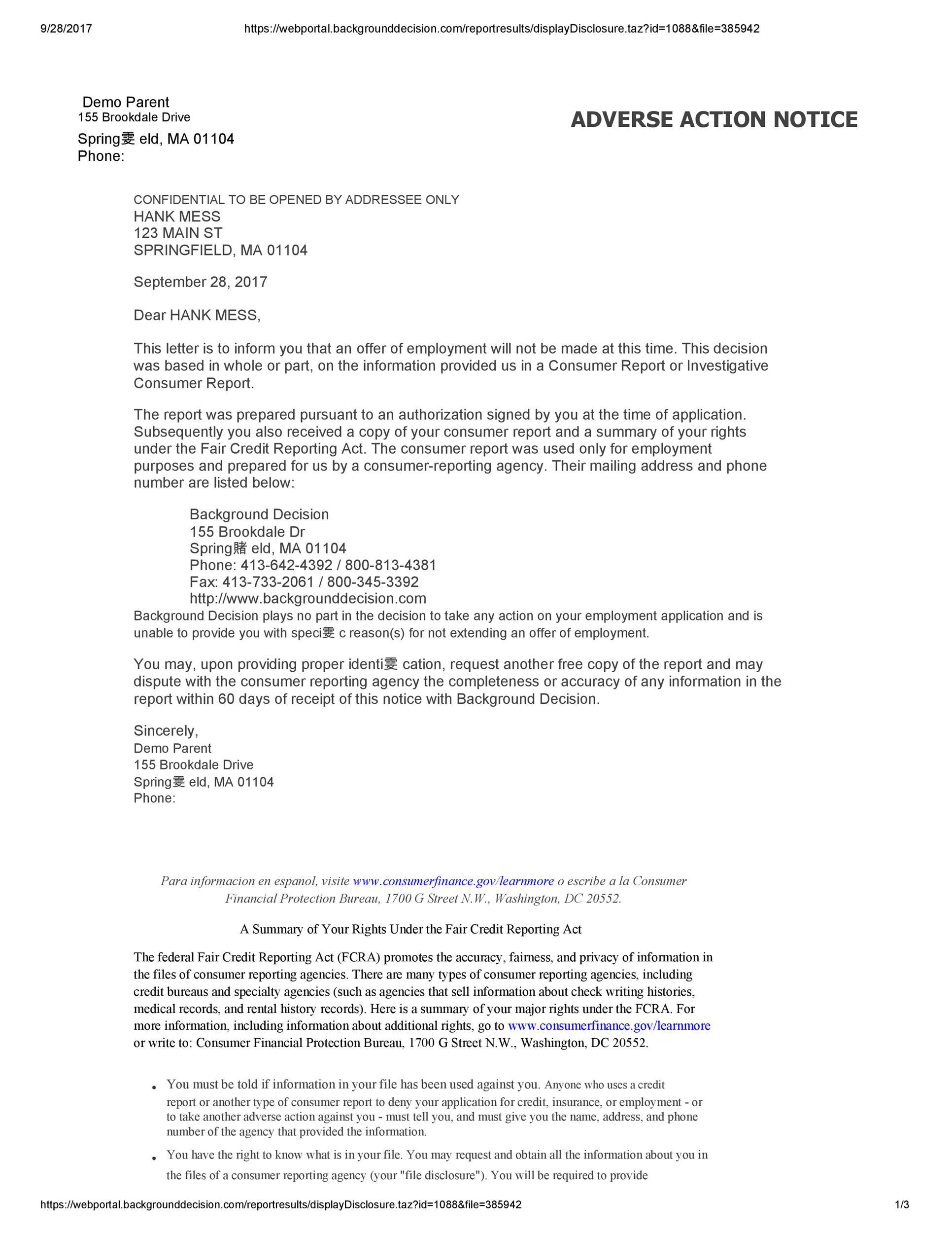 Free adverse action notice 43