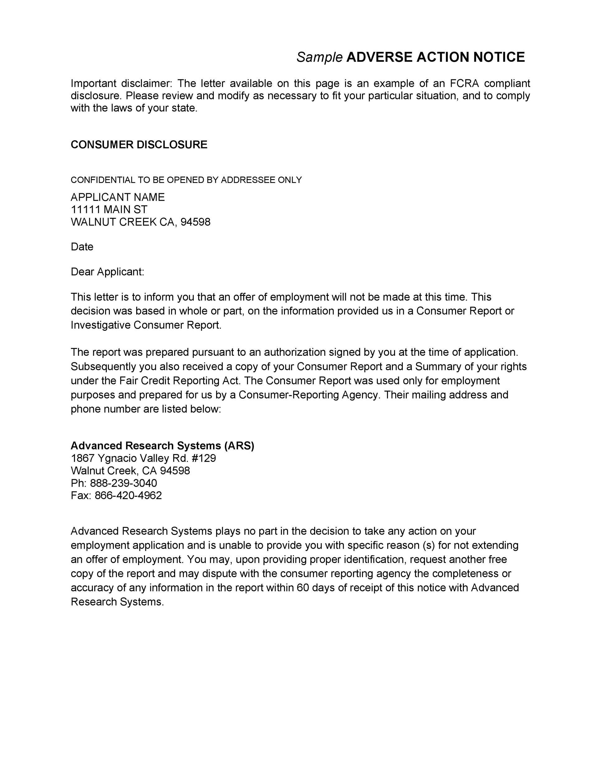 Free adverse action notice 44