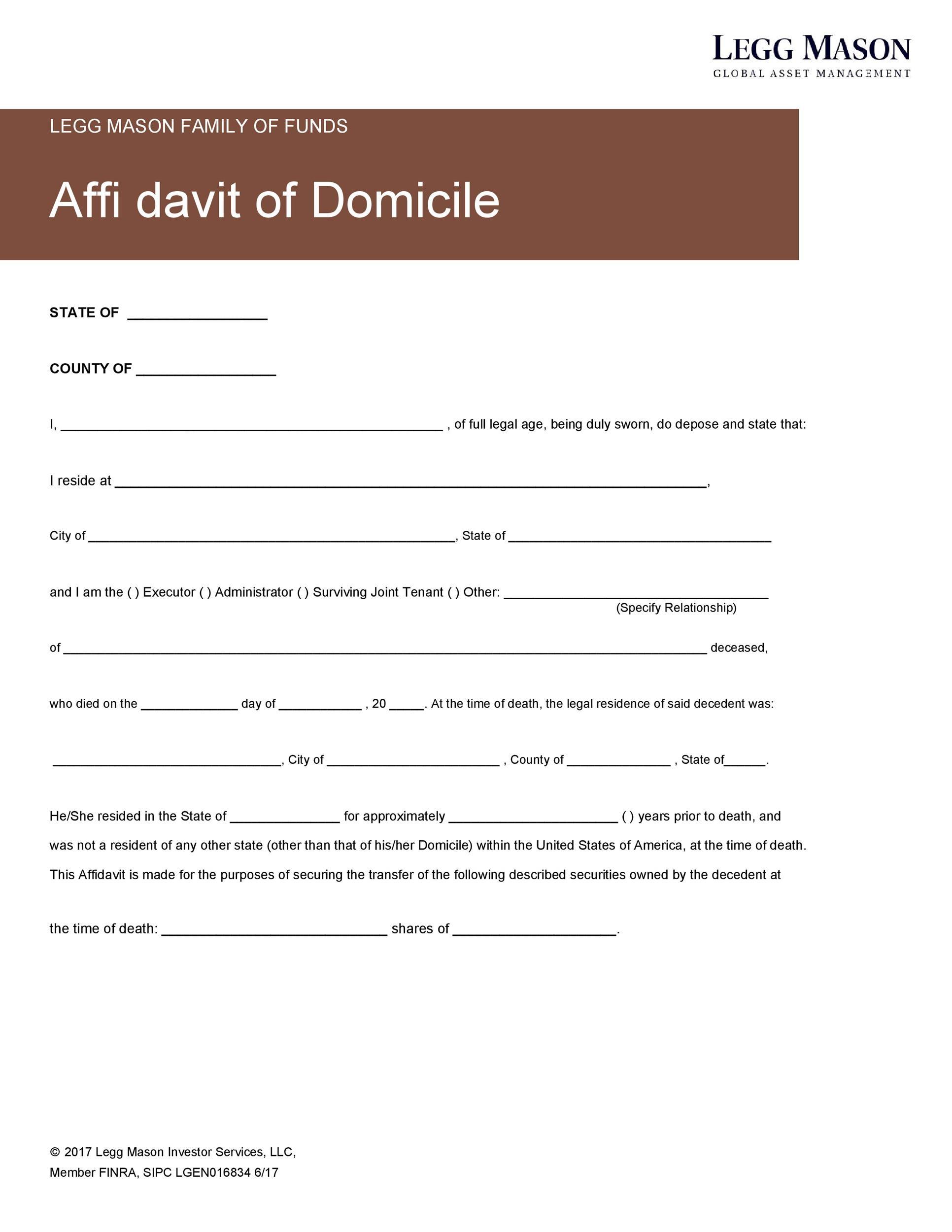 Free affidavit of domicile 07