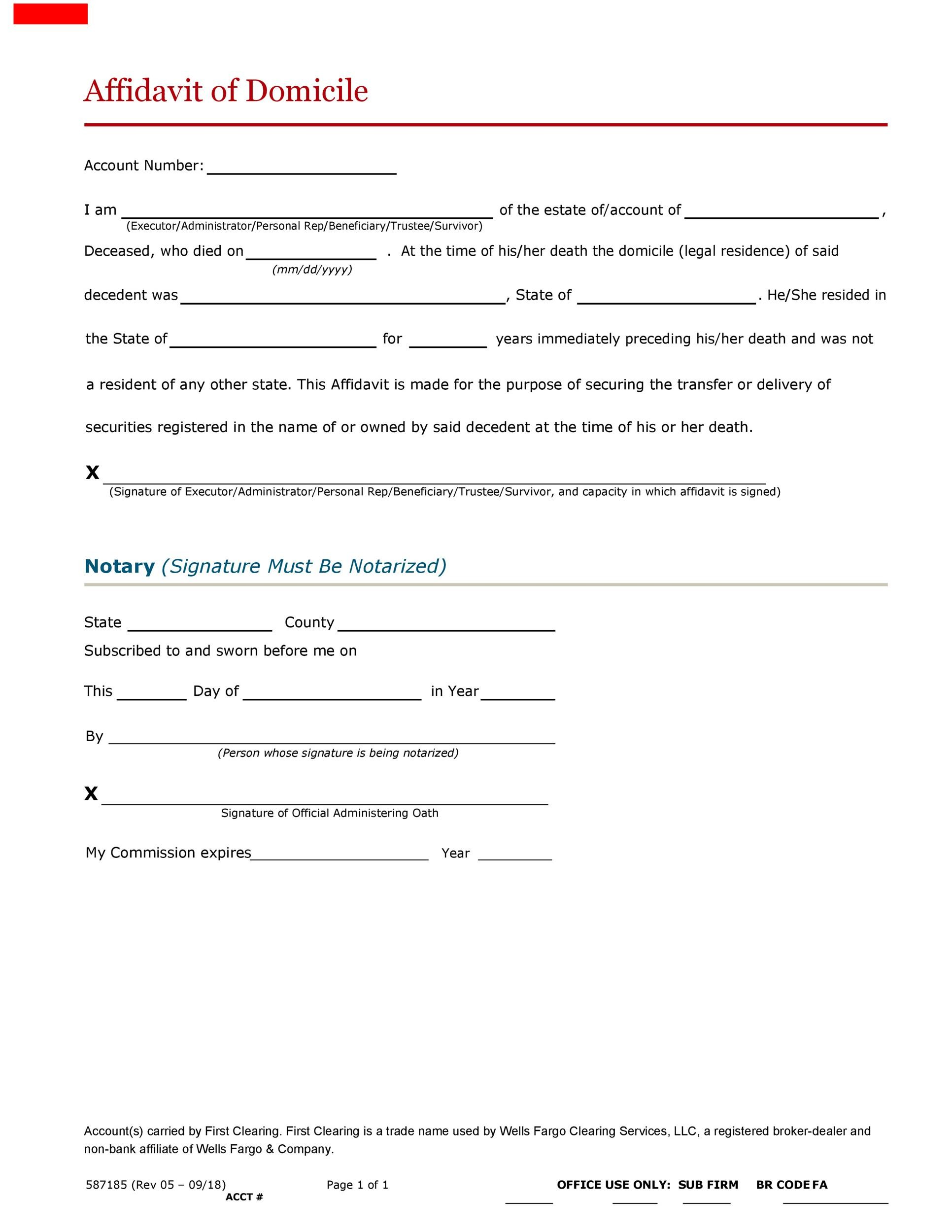 50 Professional Affidavit of Domicile Forms [100% Free] ᐅ Template Lab