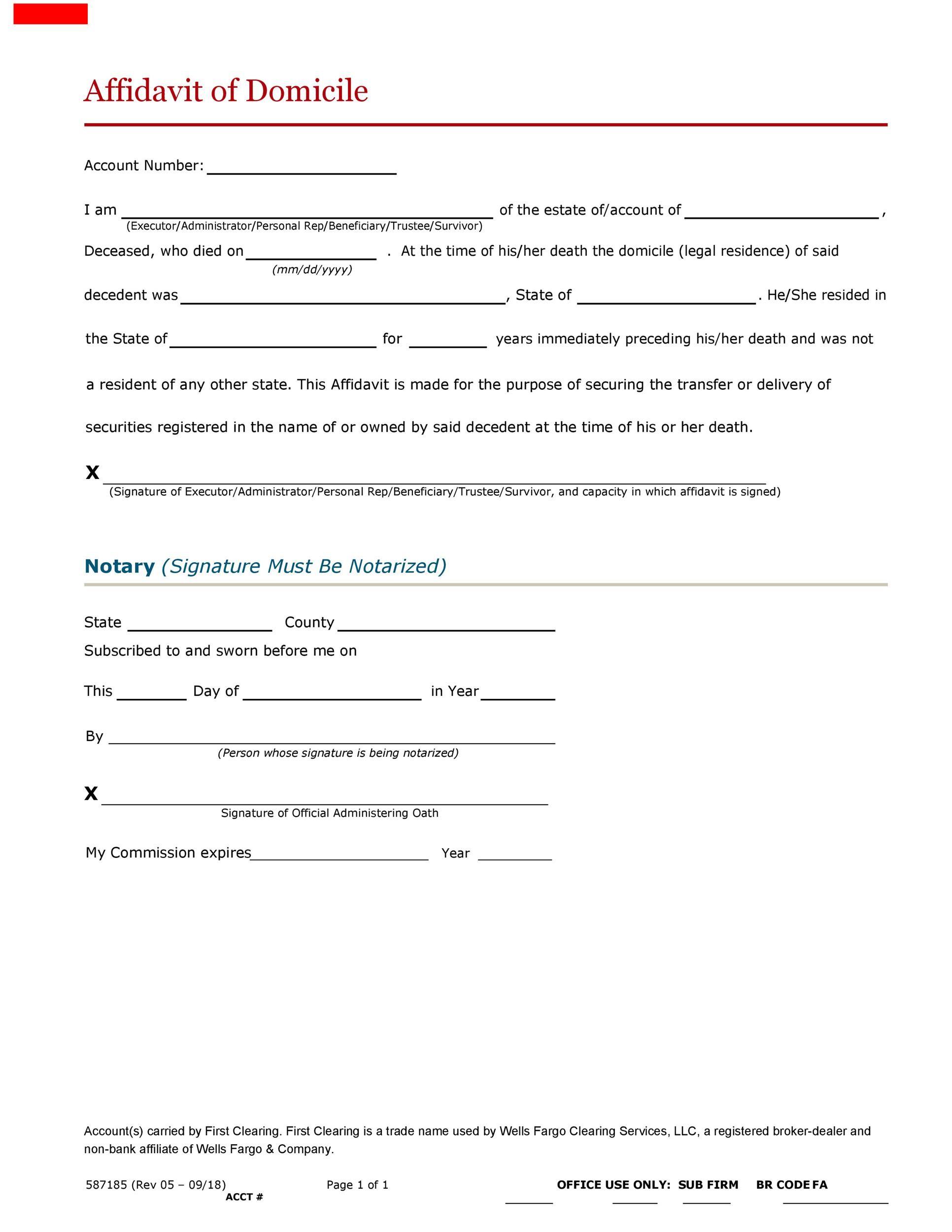 Free affidavit of domicile 10