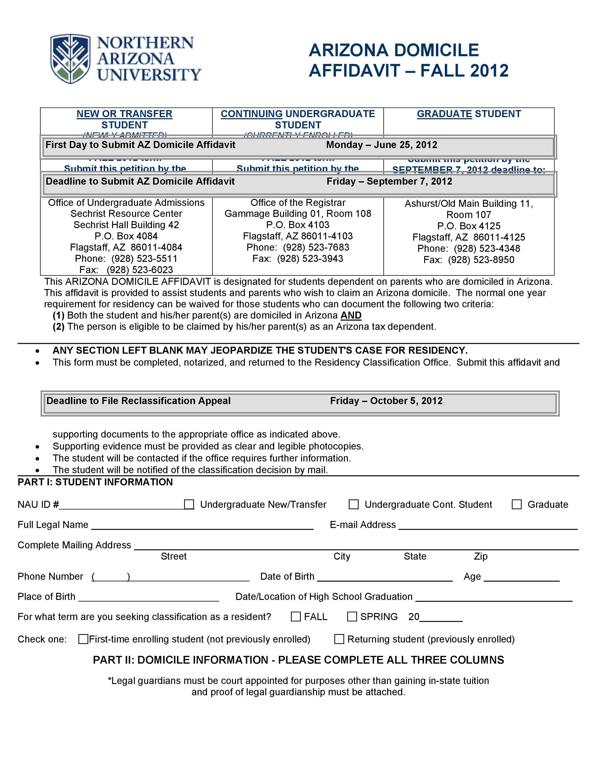 Free affidavit of domicile 17