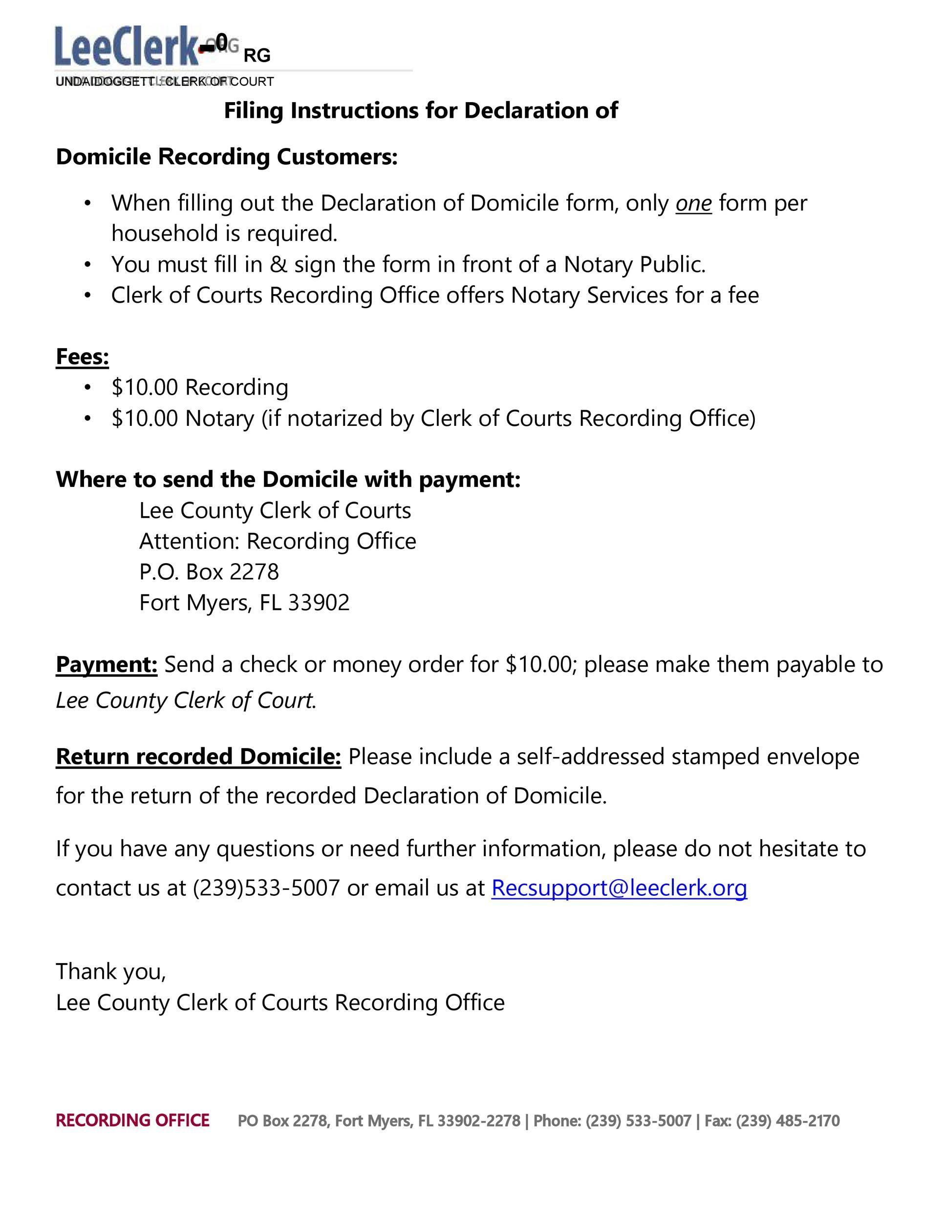 Free affidavit of domicile 22