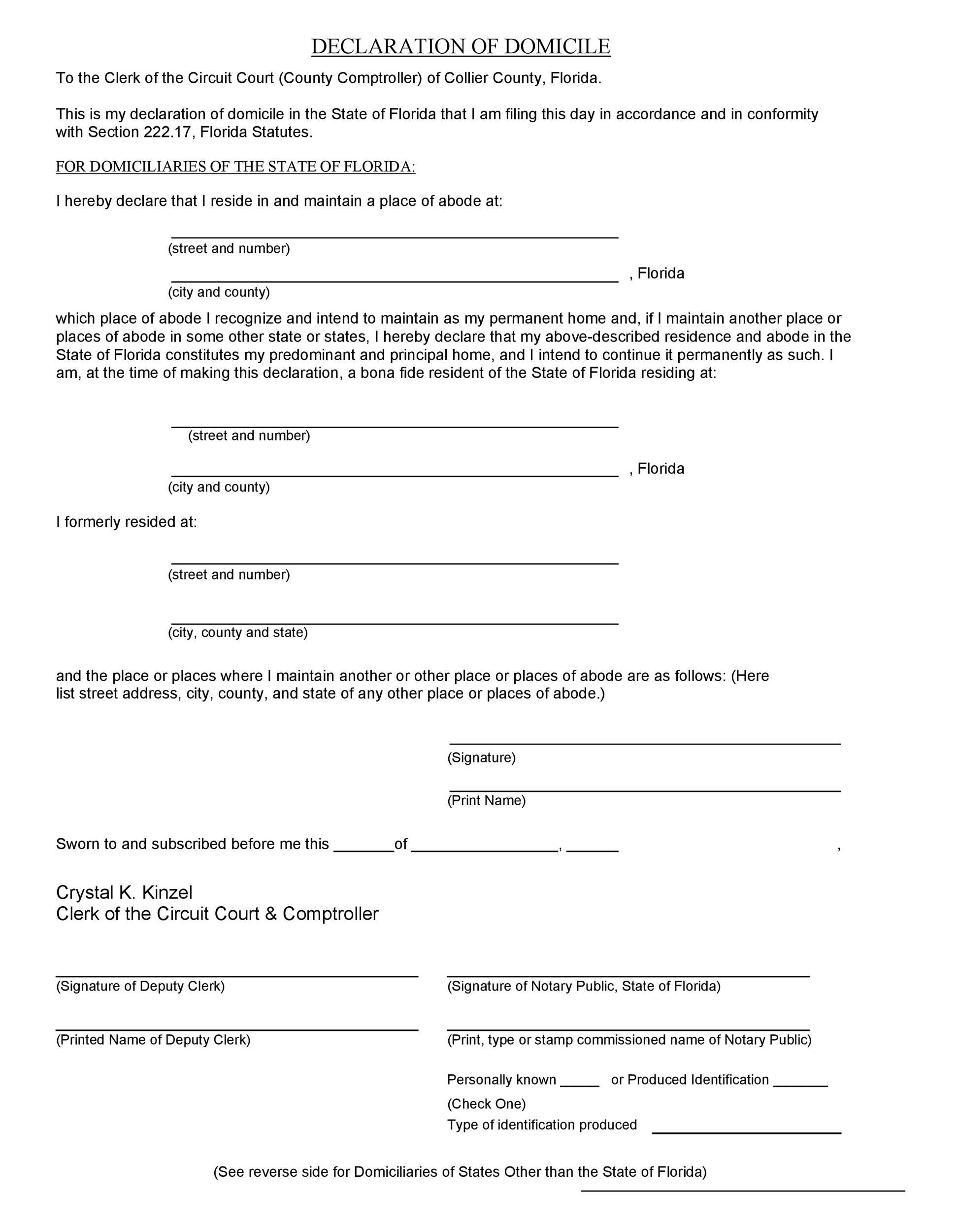 Free affidavit of domicile 33