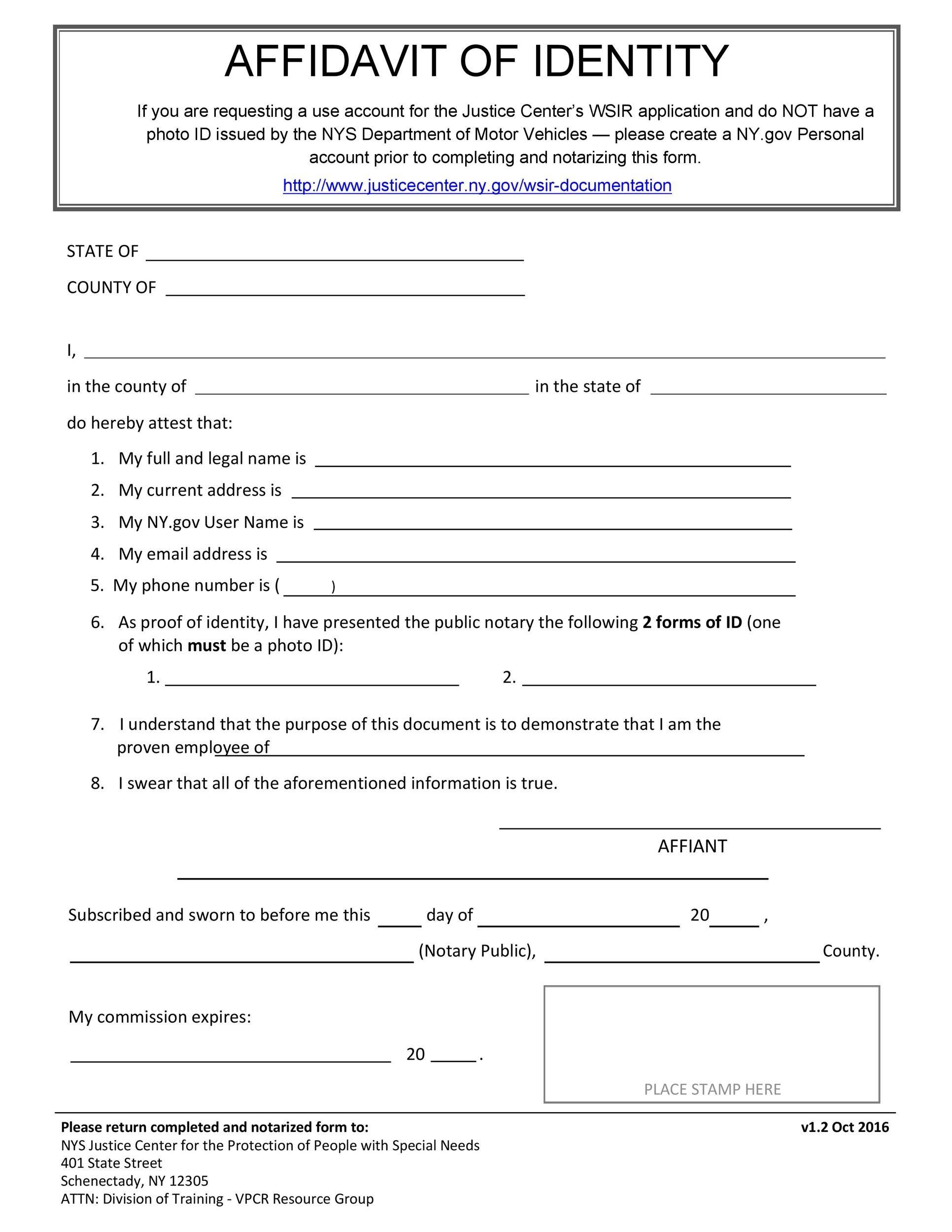 Free affidavit of identity 03