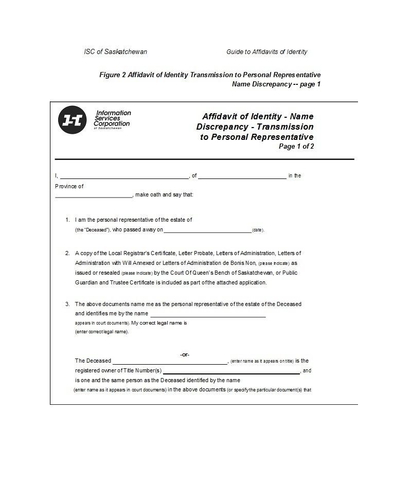 Free affidavit of identity 07