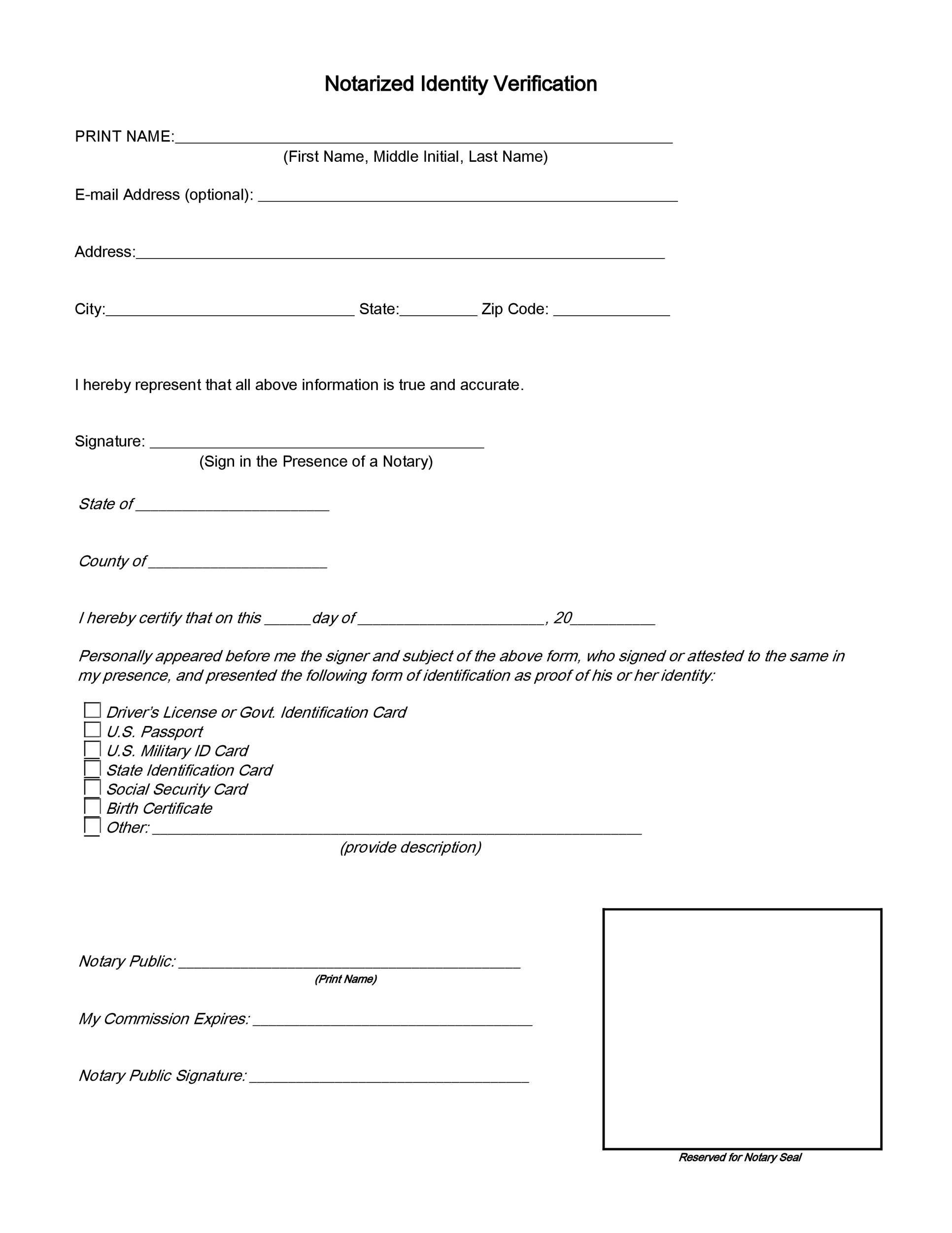 Free affidavit of identity 11