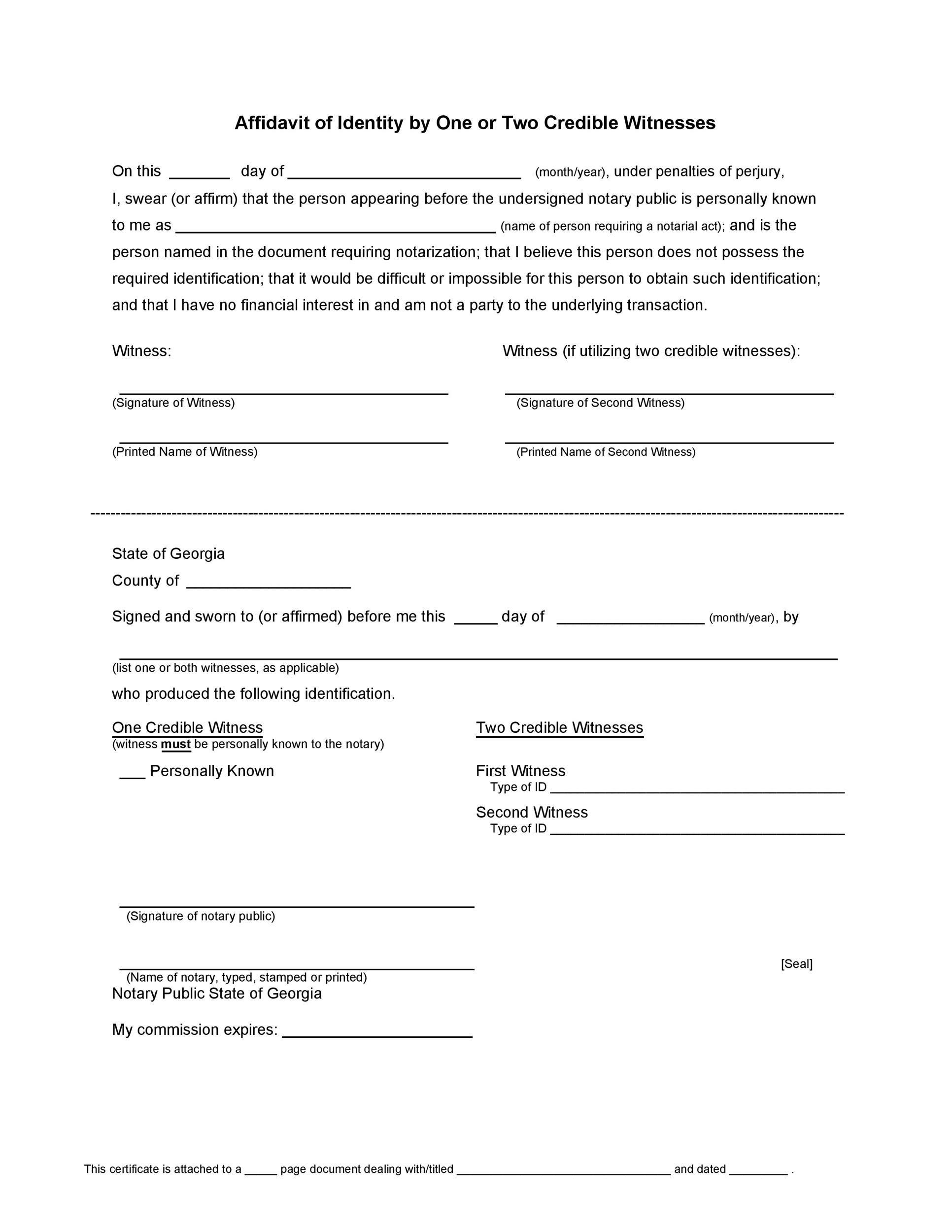 Free affidavit of identity 12